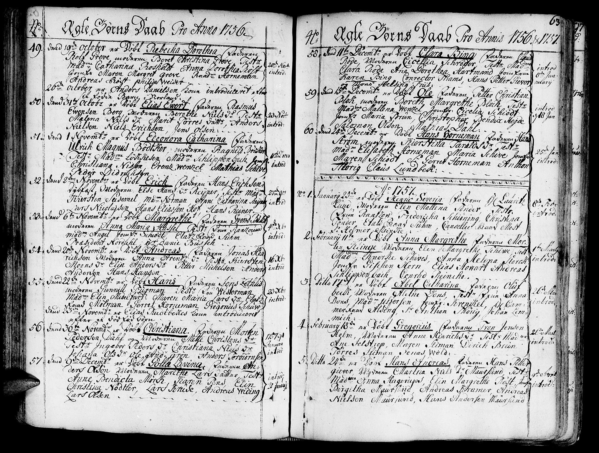 SAT, Ministerialprotokoller, klokkerbøker og fødselsregistre - Sør-Trøndelag, 602/L0103: Ministerialbok nr. 602A01, 1732-1774, s. 63