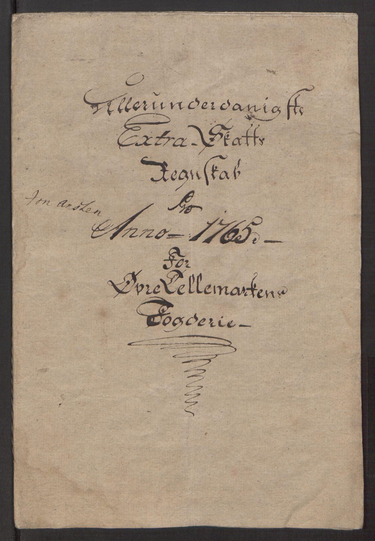RA, Rentekammeret inntil 1814, Reviderte regnskaper, Fogderegnskap, R38/L2293: Ekstraskatten Øvre Telemark, 1762-1770, s. 56