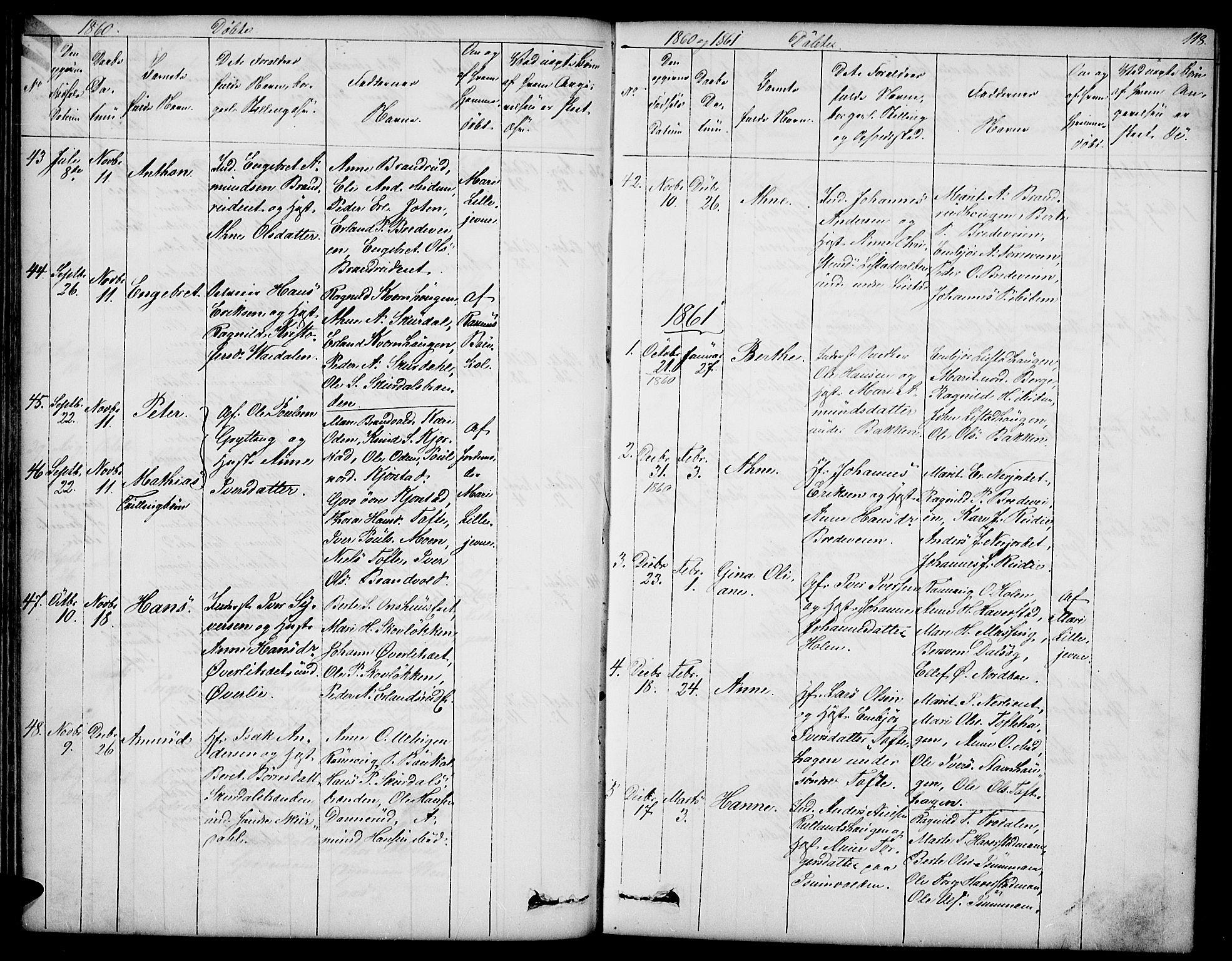 SAH, Sør-Fron prestekontor, H/Ha/Hab/L0001: Klokkerbok nr. 1, 1844-1863, s. 118