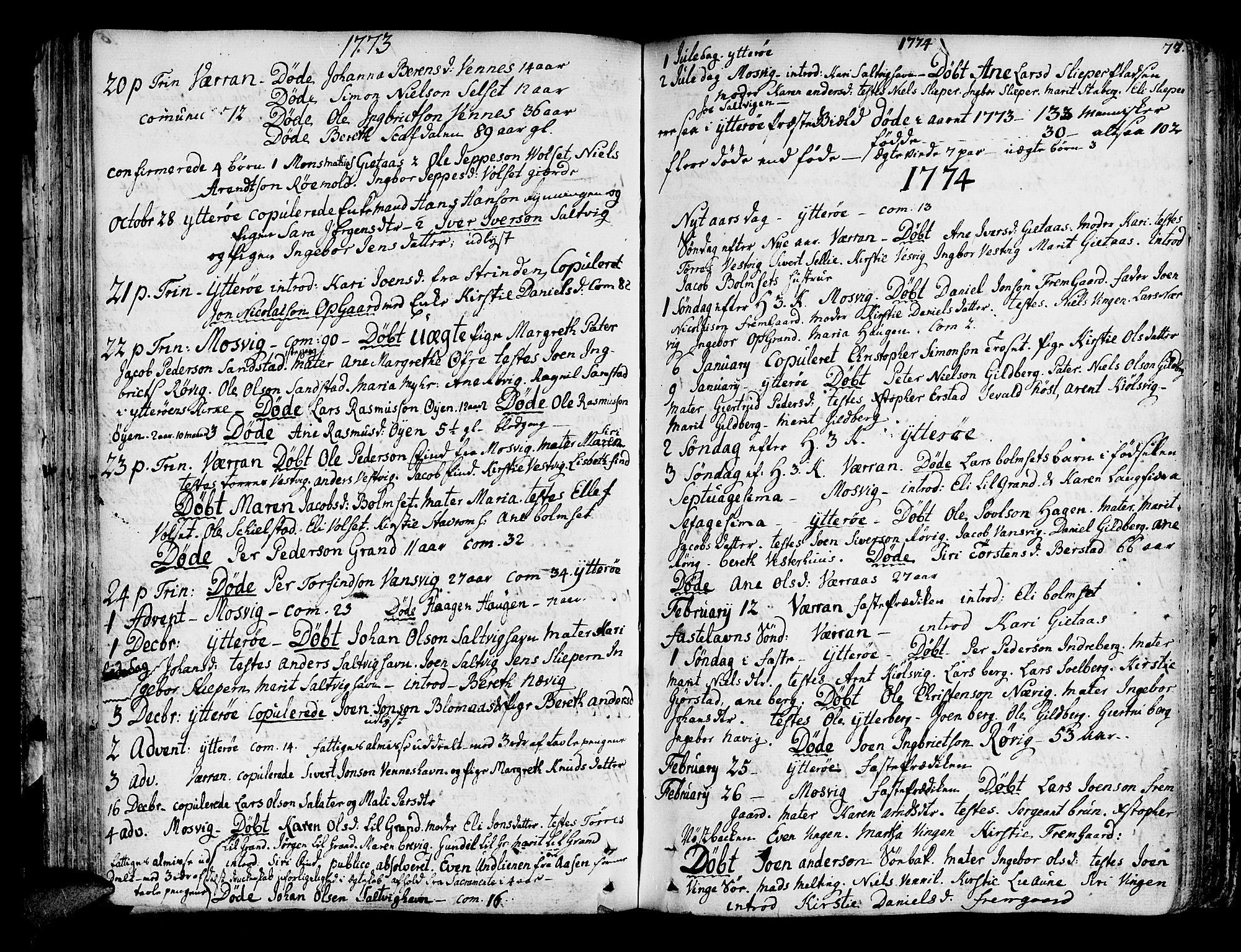 SAT, Ministerialprotokoller, klokkerbøker og fødselsregistre - Nord-Trøndelag, 722/L0216: Ministerialbok nr. 722A03, 1756-1816, s. 77