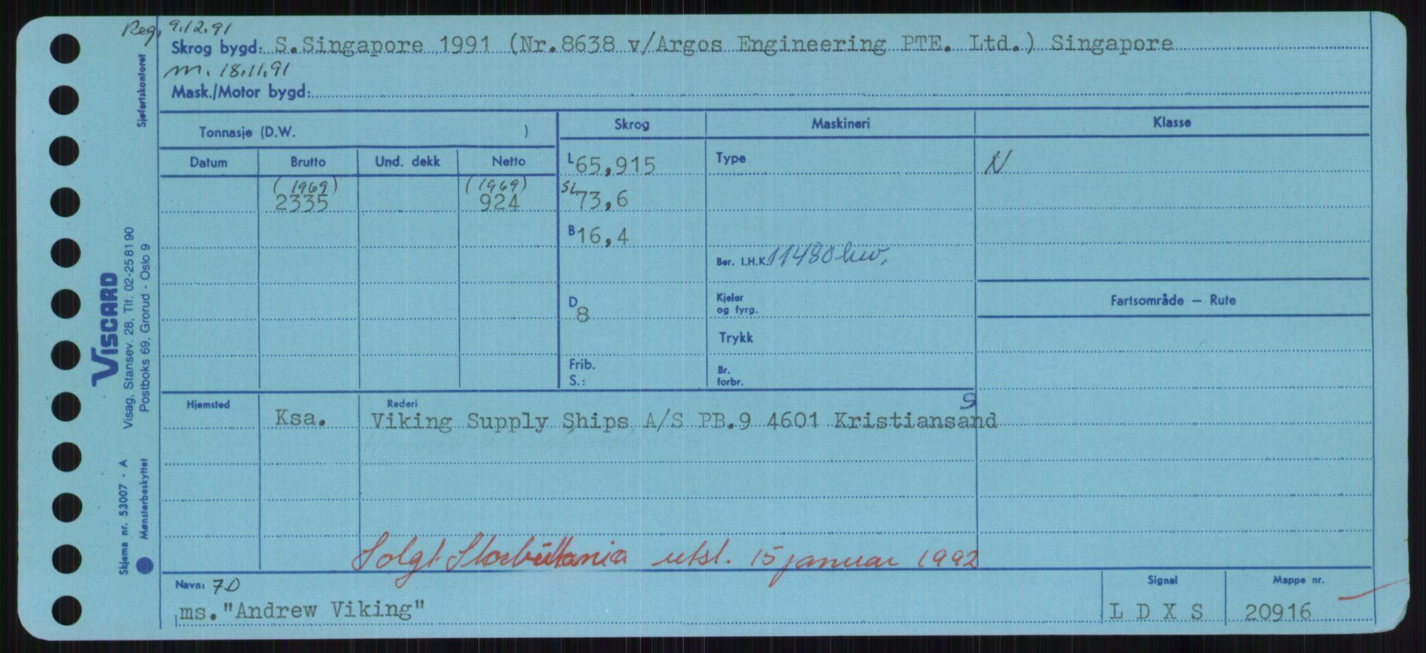 RA, Sjøfartsdirektoratet med forløpere, Skipsmålingen, H/Hd/L0001: Fartøy, A-Anv, s. 579