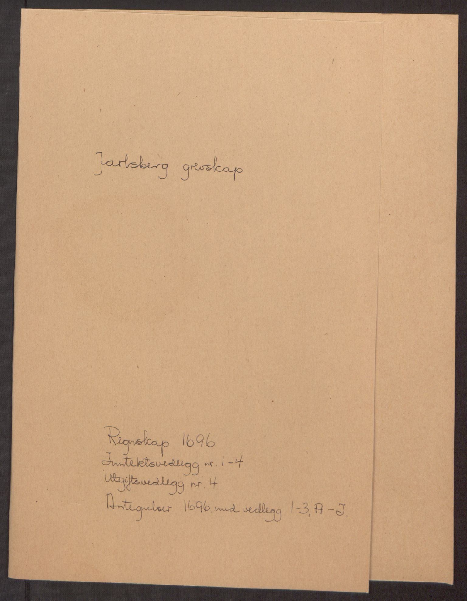 RA, Rentekammeret inntil 1814, Reviderte regnskaper, Fogderegnskap, R32/L1867: Fogderegnskap Jarlsberg grevskap, 1694-1696, s. 255