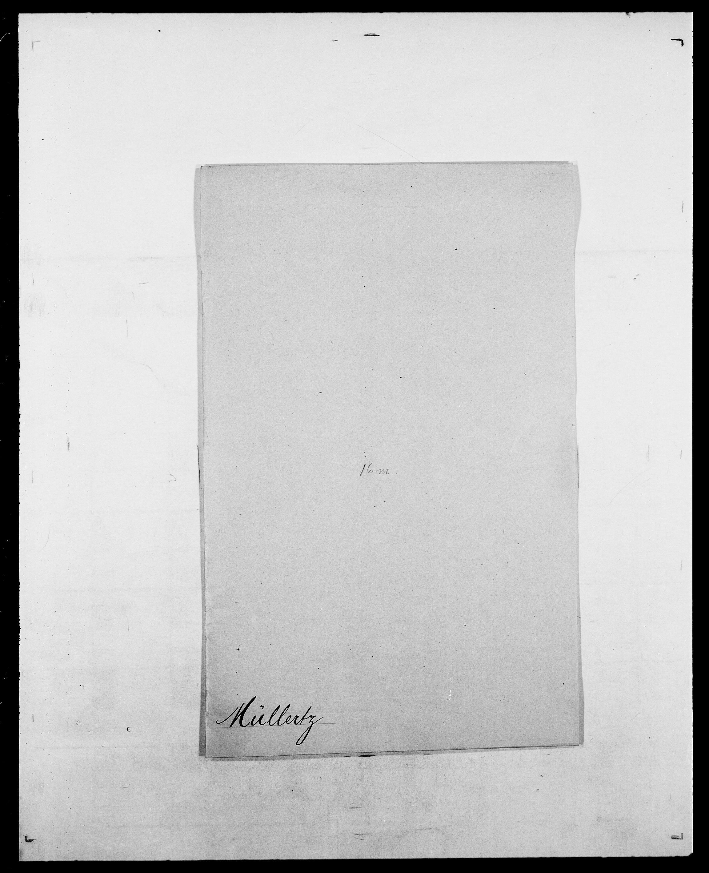 SAO, Delgobe, Charles Antoine - samling, D/Da/L0027: Morath - v. Møsting, s. 449