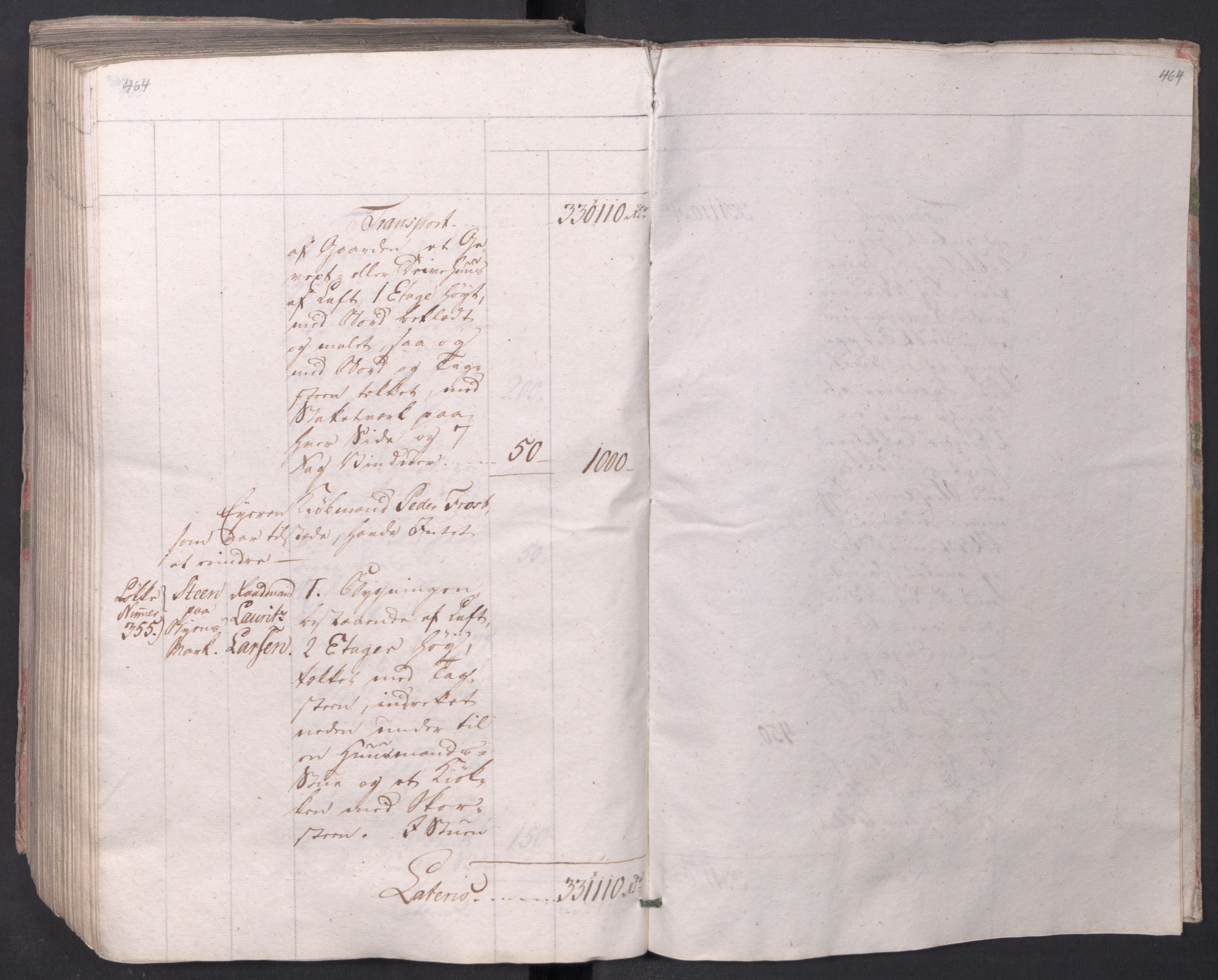 SAO, Kristiania stiftamt, I/Ia/L0015: Branntakster, 1797, s. 464