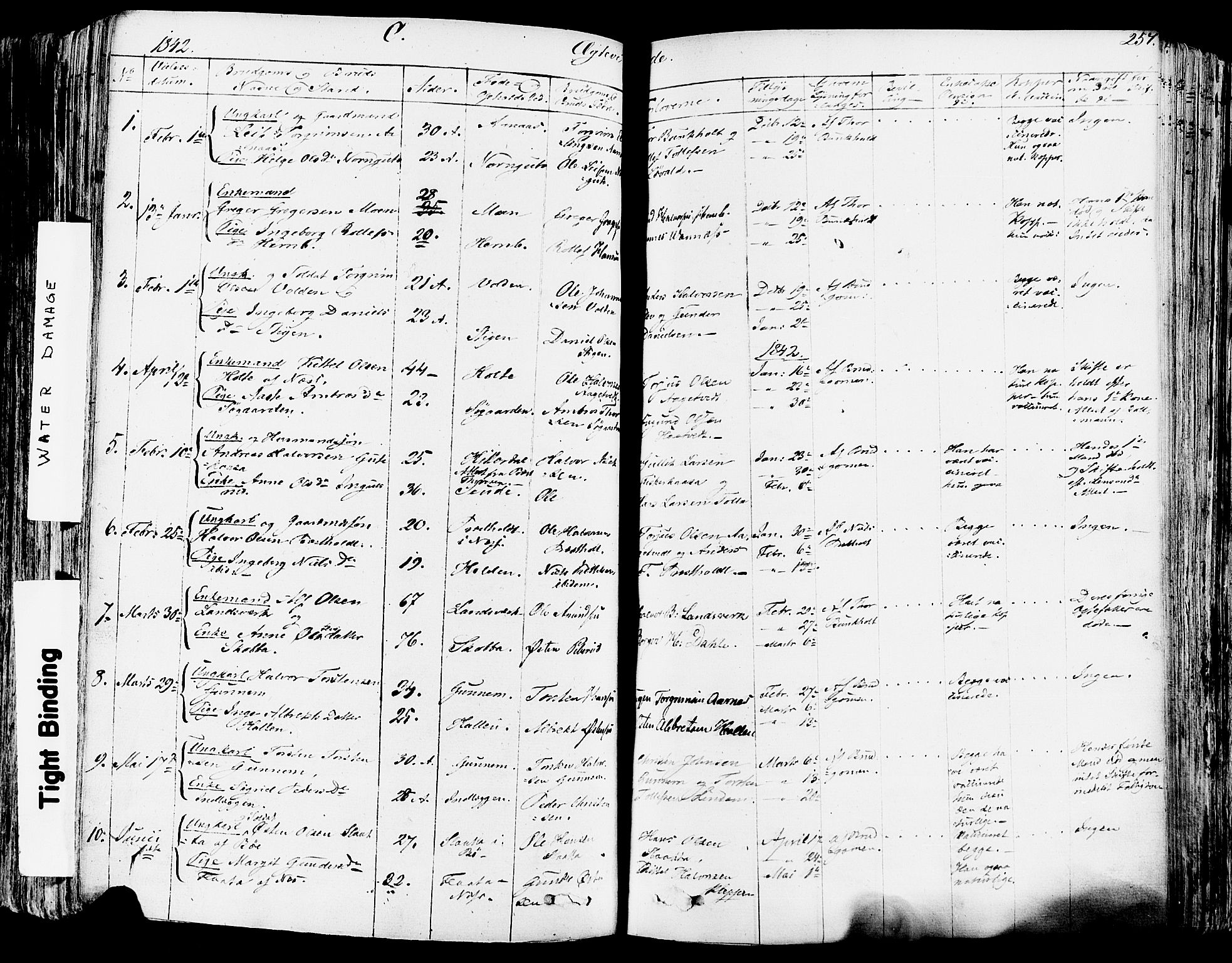 SAKO, Sauherad kirkebøker, F/Fa/L0006: Ministerialbok nr. I 6, 1827-1850, s. 257