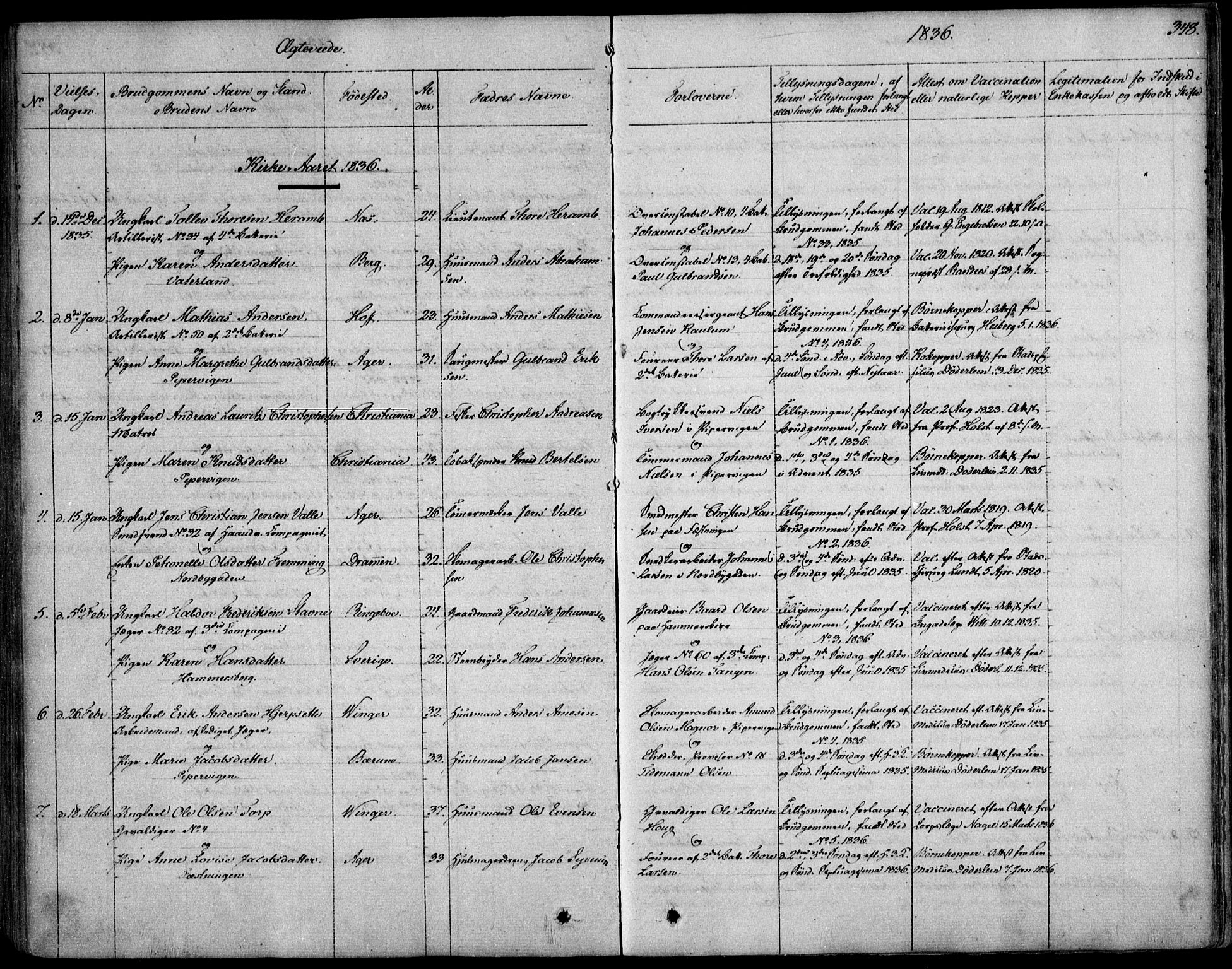 SAO, Garnisonsmenigheten Kirkebøker, F/Fa/L0006: Ministerialbok nr. 6, 1828-1841, s. 348