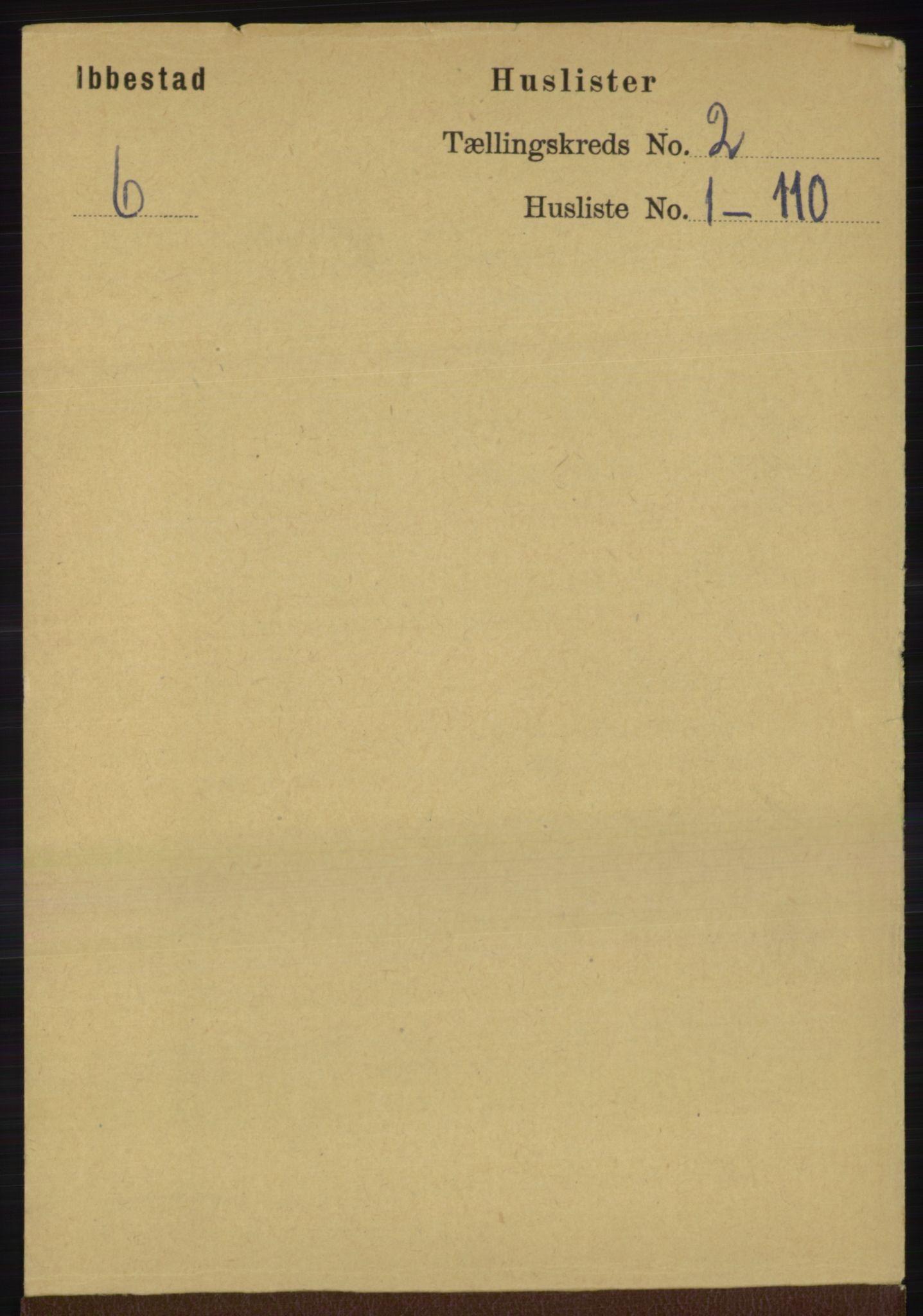 RA, Folketelling 1891 for 1917 Ibestad herred, 1891, s. 707