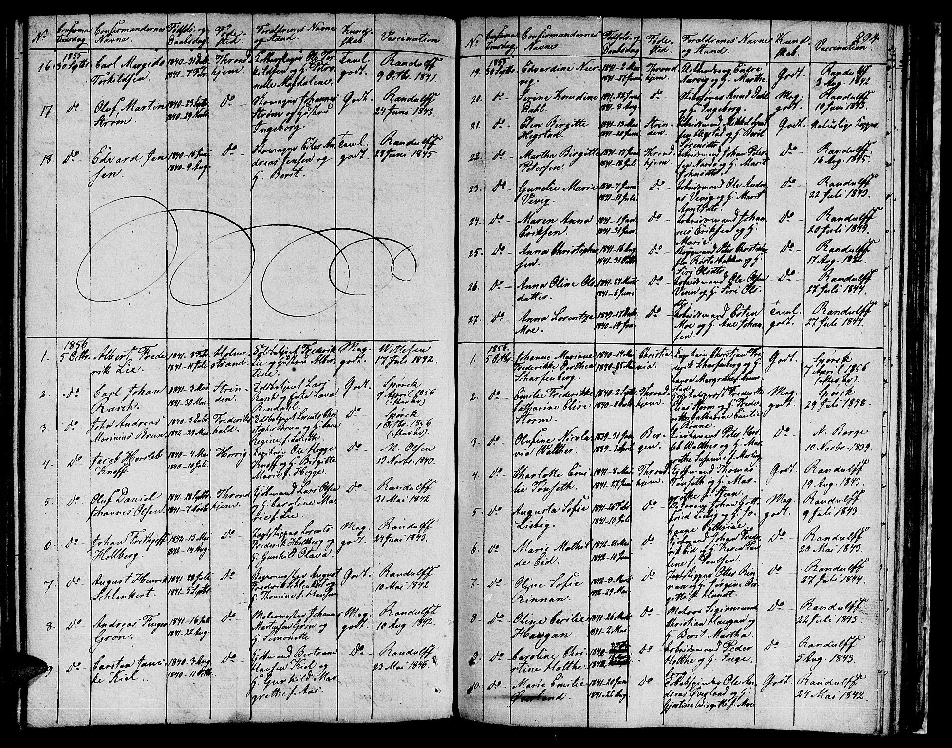 SAT, Ministerialprotokoller, klokkerbøker og fødselsregistre - Sør-Trøndelag, 601/L0070: Residerende kapellans bok nr. 601B03, 1821-1881, s. 294