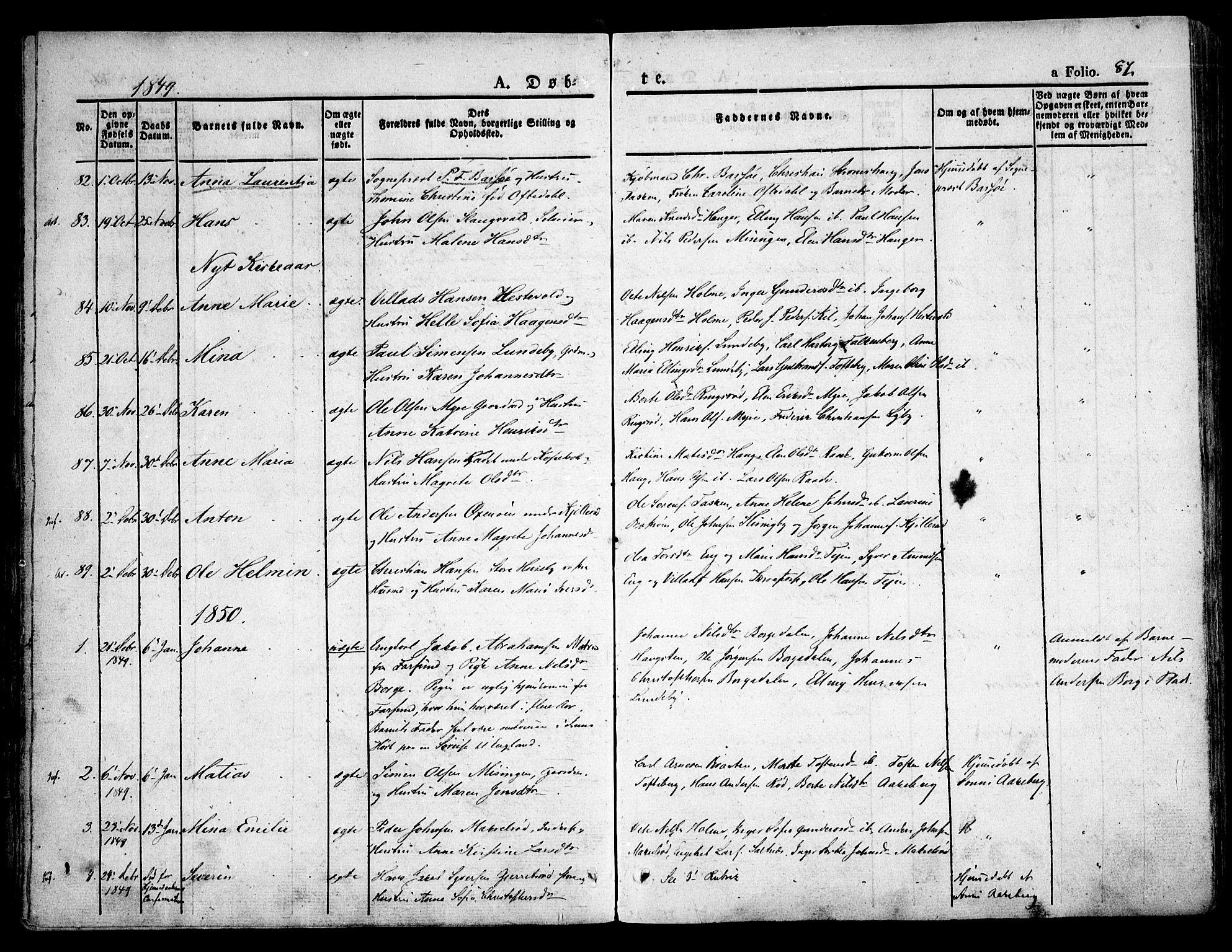 SAO, Råde prestekontor kirkebøker, F/Fa/L0005: Ministerialbok nr. 5, 1830-1853, s. 87