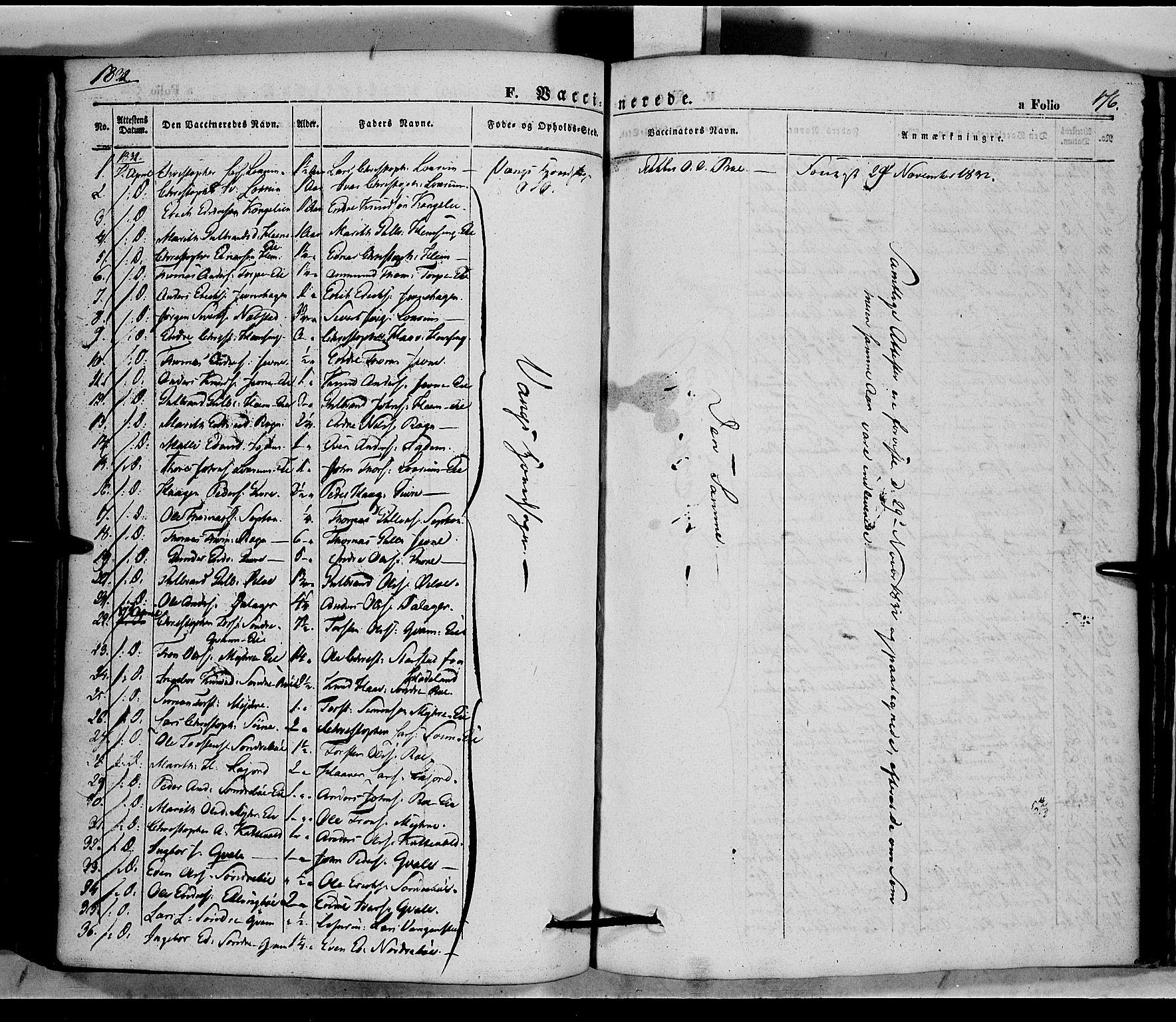 SAH, Vang prestekontor, Valdres, Ministerialbok nr. 5, 1831-1845, s. 176