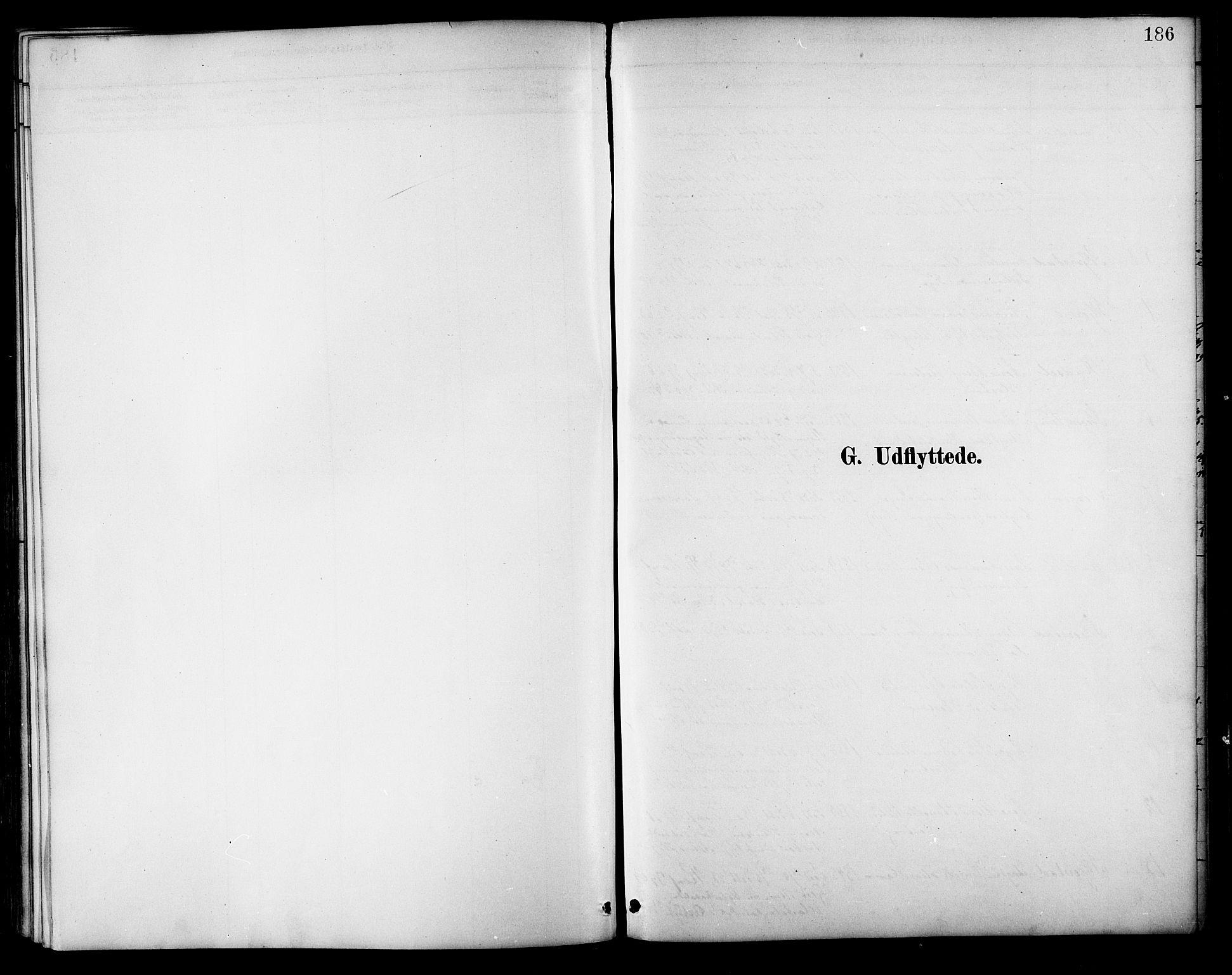 SAT, Ministerialprotokoller, klokkerbøker og fødselsregistre - Nordland, 854/L0777: Ministerialbok nr. 854A01 /1, 1883-1891, s. 186