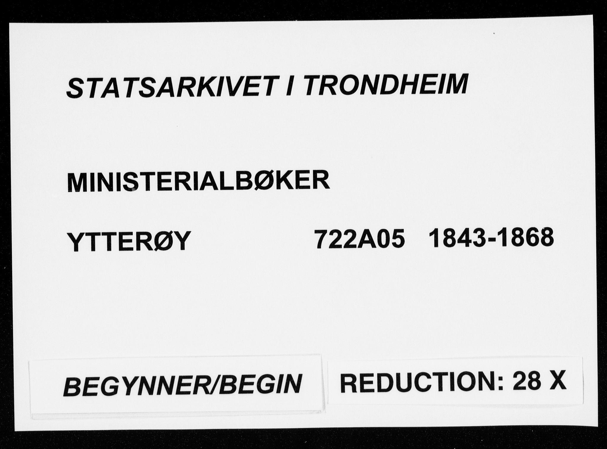 SAT, Ministerialprotokoller, klokkerbøker og fødselsregistre - Nord-Trøndelag, 722/L0218: Ministerialbok nr. 722A05, 1843-1868