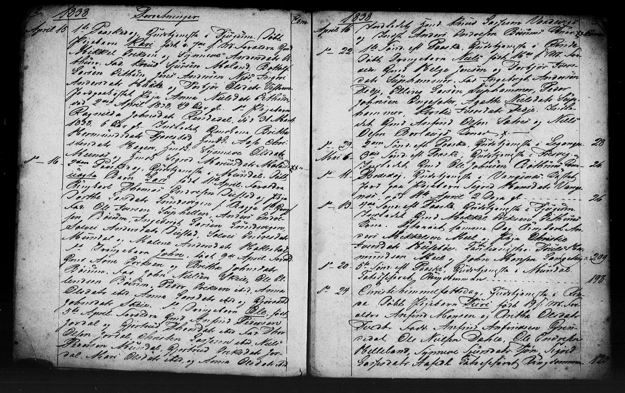 SAB, Leikanger Sokneprestembete, Residerende kapellans bok nr. A 1, 1838-1839, s. 2-3