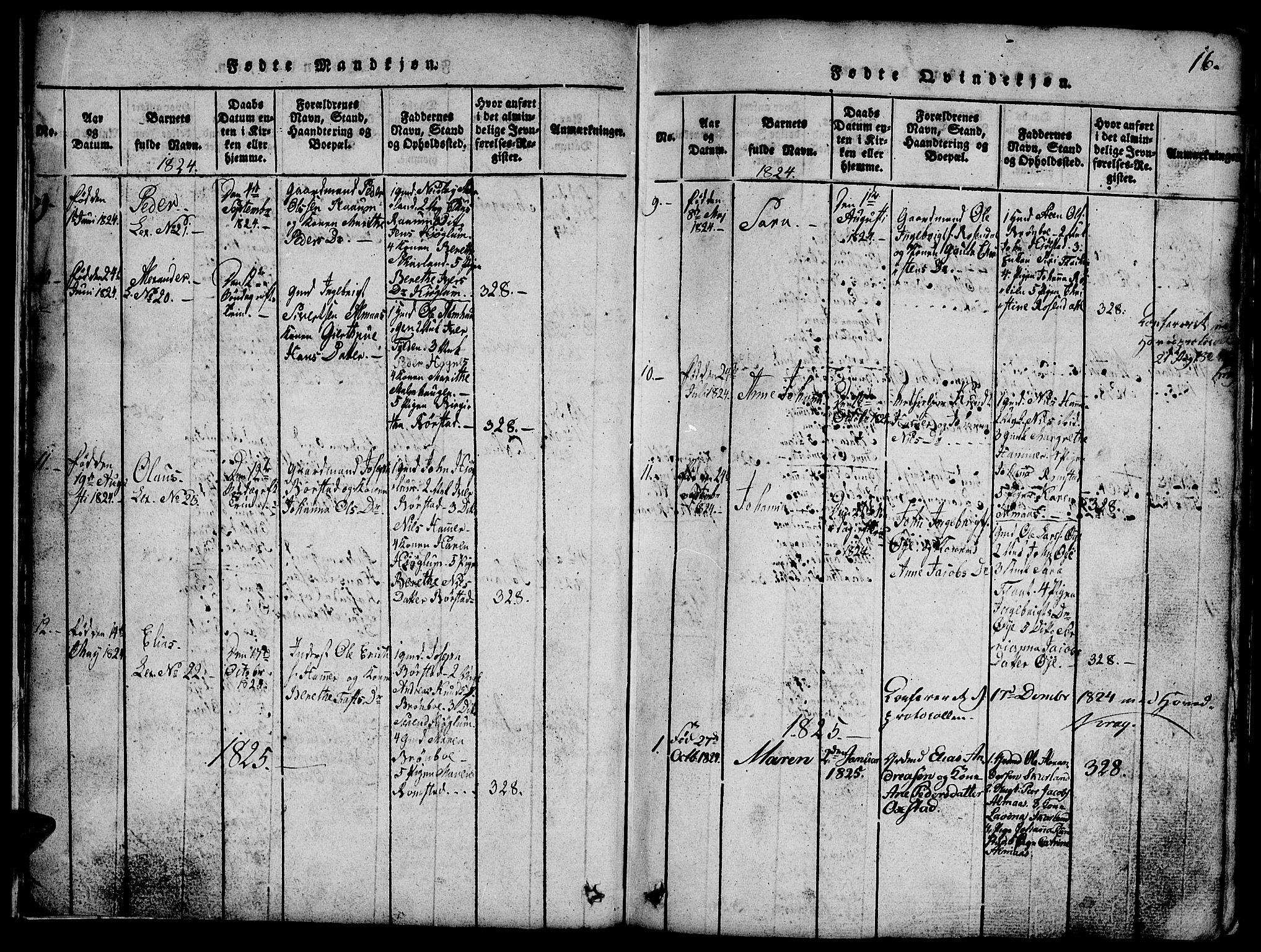 SAT, Ministerialprotokoller, klokkerbøker og fødselsregistre - Nord-Trøndelag, 765/L0562: Klokkerbok nr. 765C01, 1817-1851, s. 16