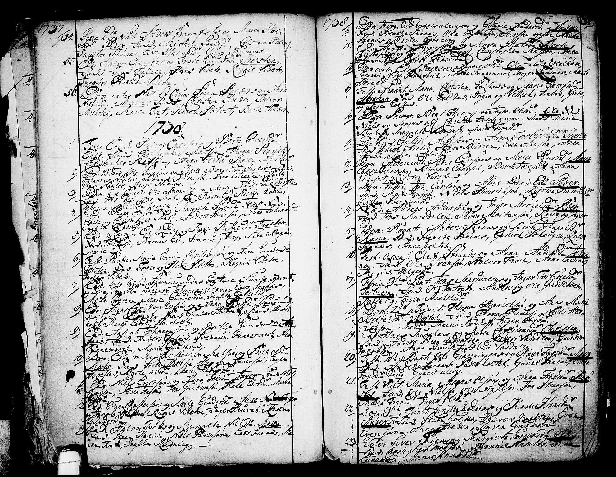 SAKO, Holla kirkebøker, F/Fa/L0001: Ministerialbok nr. 1, 1717-1779, s. 31