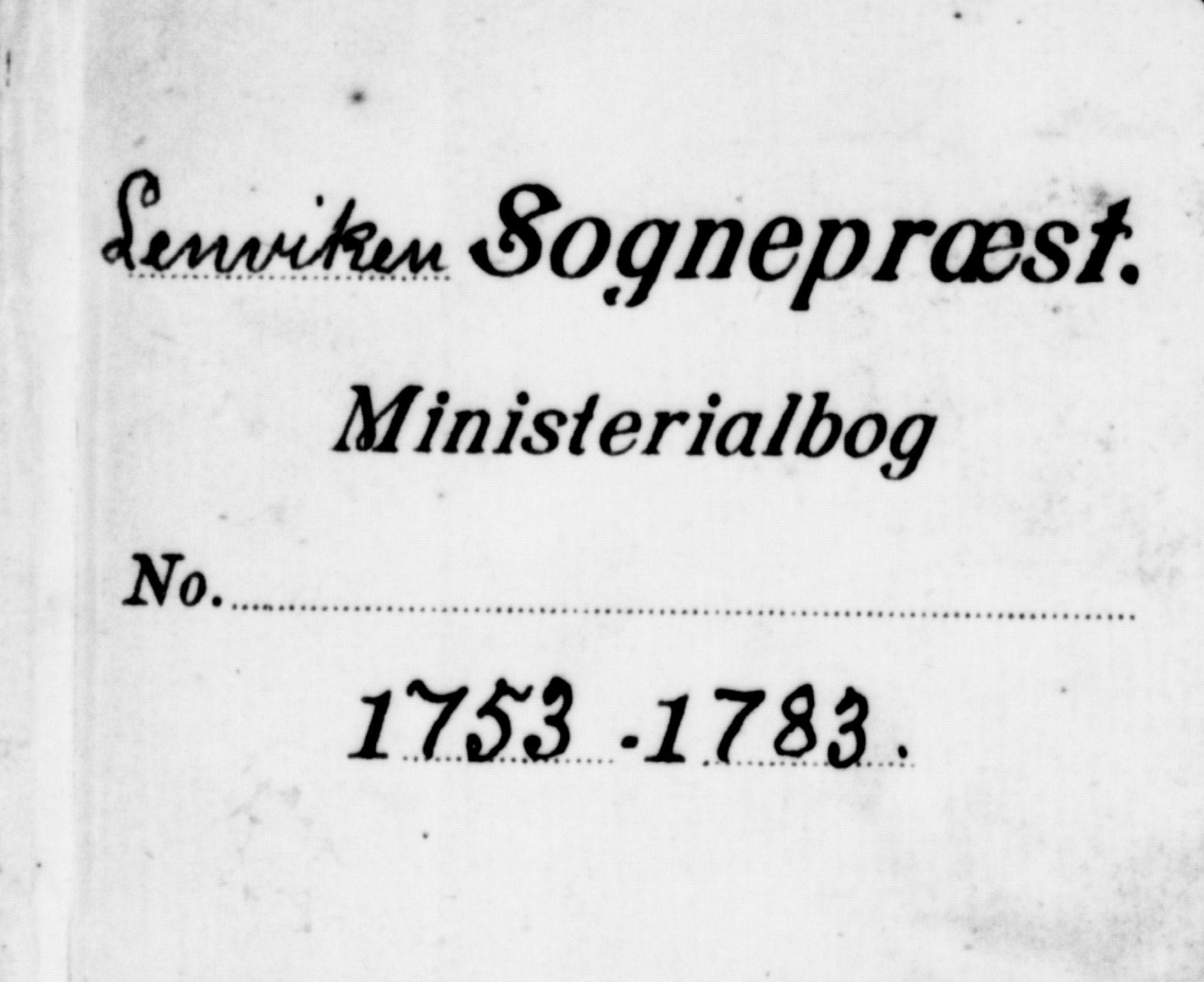 SATØ, Lenvik sokneprestembete, H/Ha: Ministerialbok nr. 1, 1753-1783