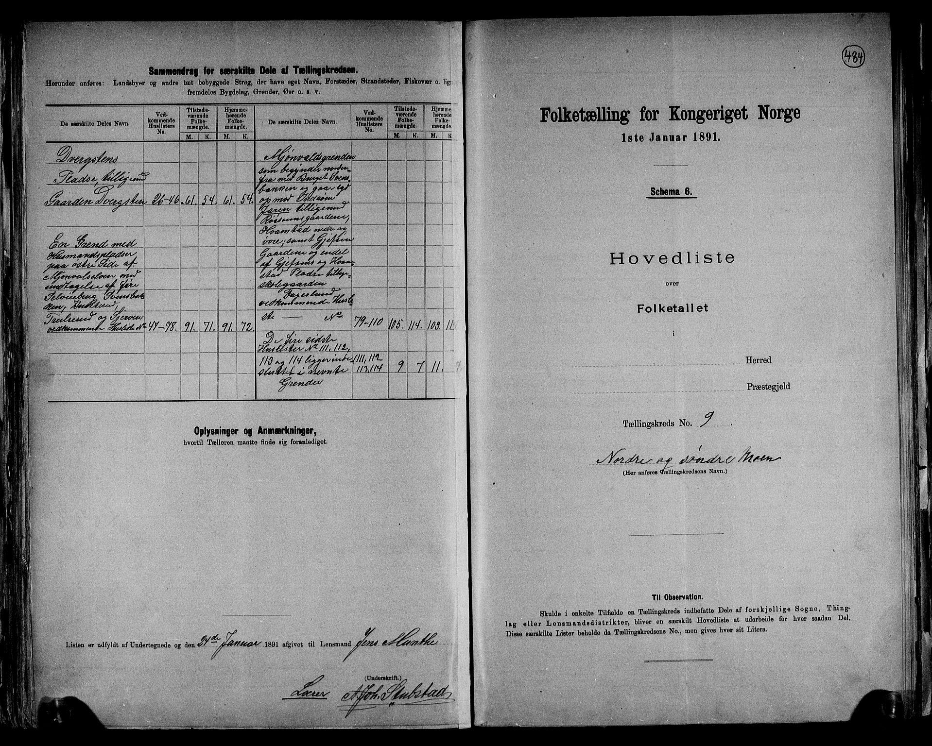 RA, Folketelling 1891 for 0534 Gran herred, 1891, s. 24