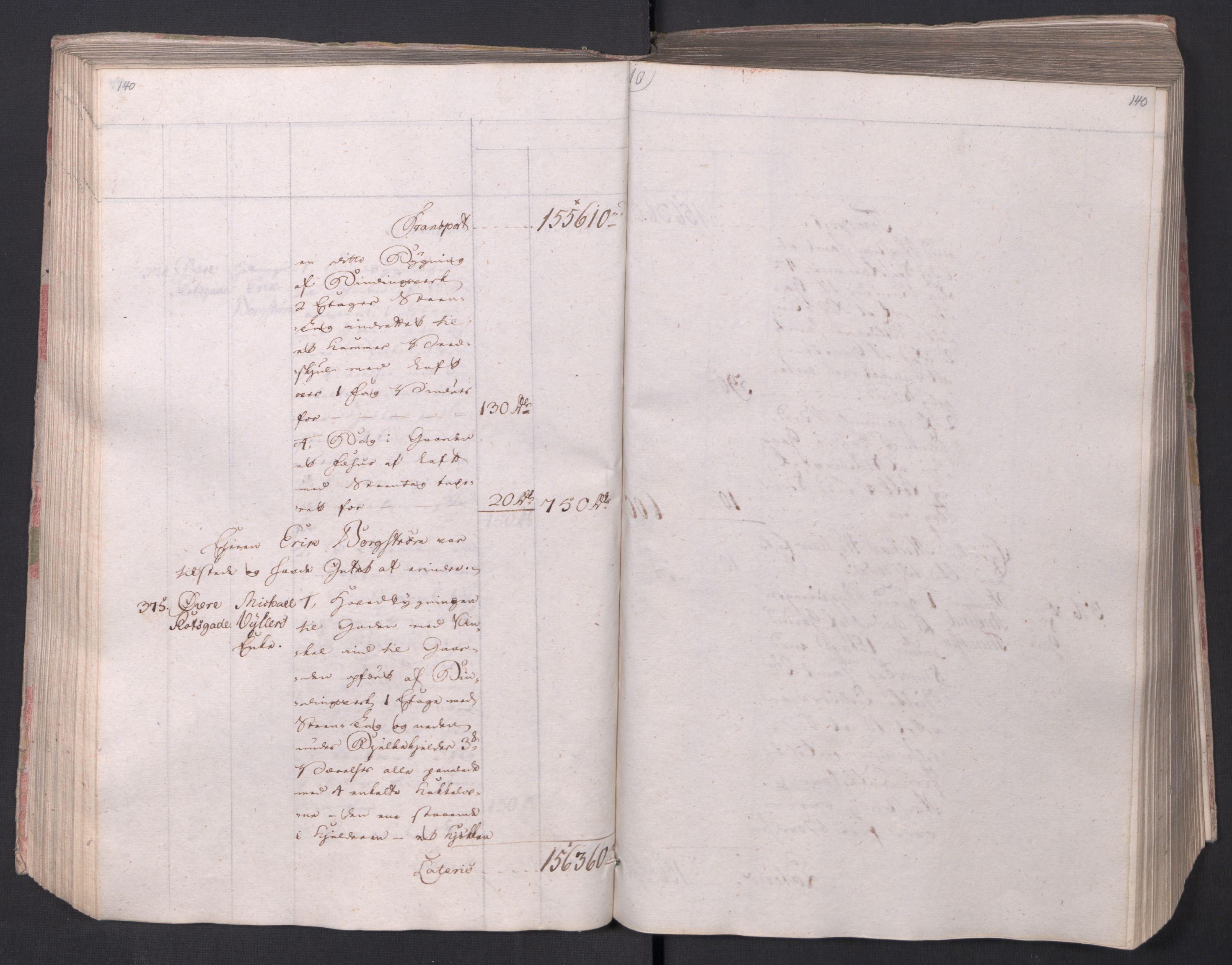 SAO, Kristiania stiftamt, I/Ia/L0015: Branntakster, 1797, s. 140