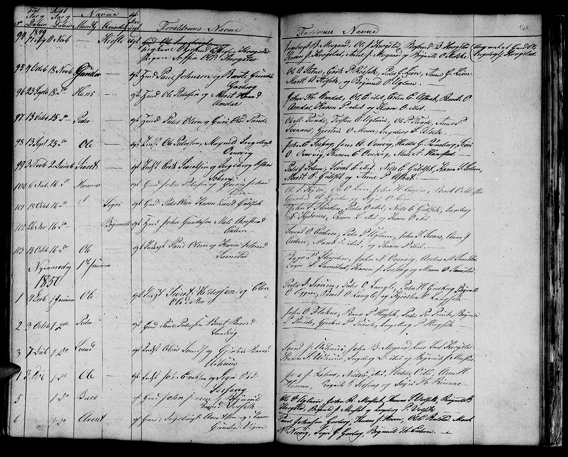 SAT, Ministerialprotokoller, klokkerbøker og fødselsregistre - Sør-Trøndelag, 695/L1154: Klokkerbok nr. 695C05, 1842-1858, s. 168