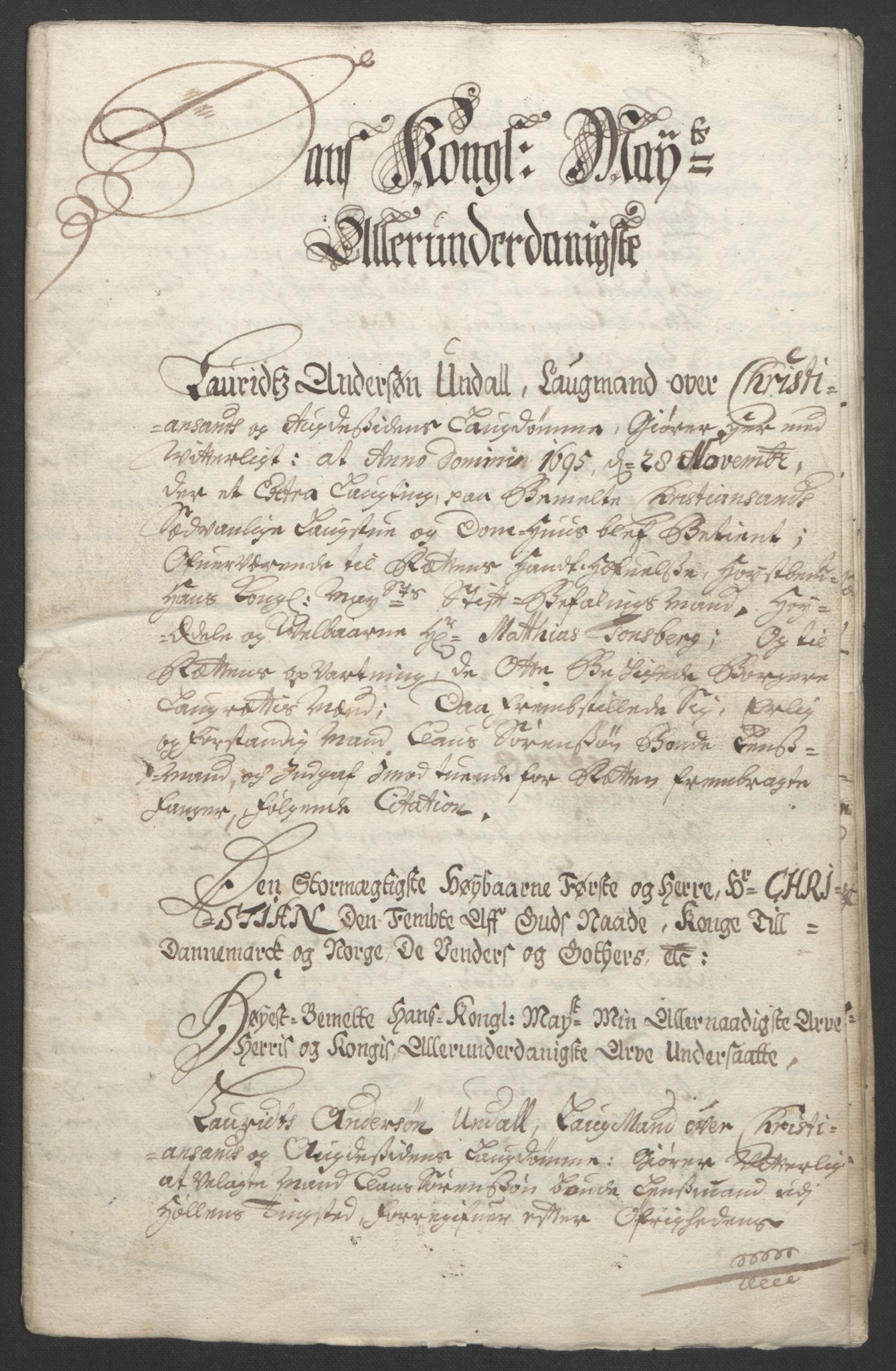 RA, Rentekammeret inntil 1814, Reviderte regnskaper, Fogderegnskap, R43/L2545: Fogderegnskap Lista og Mandal, 1694-1695, s. 335
