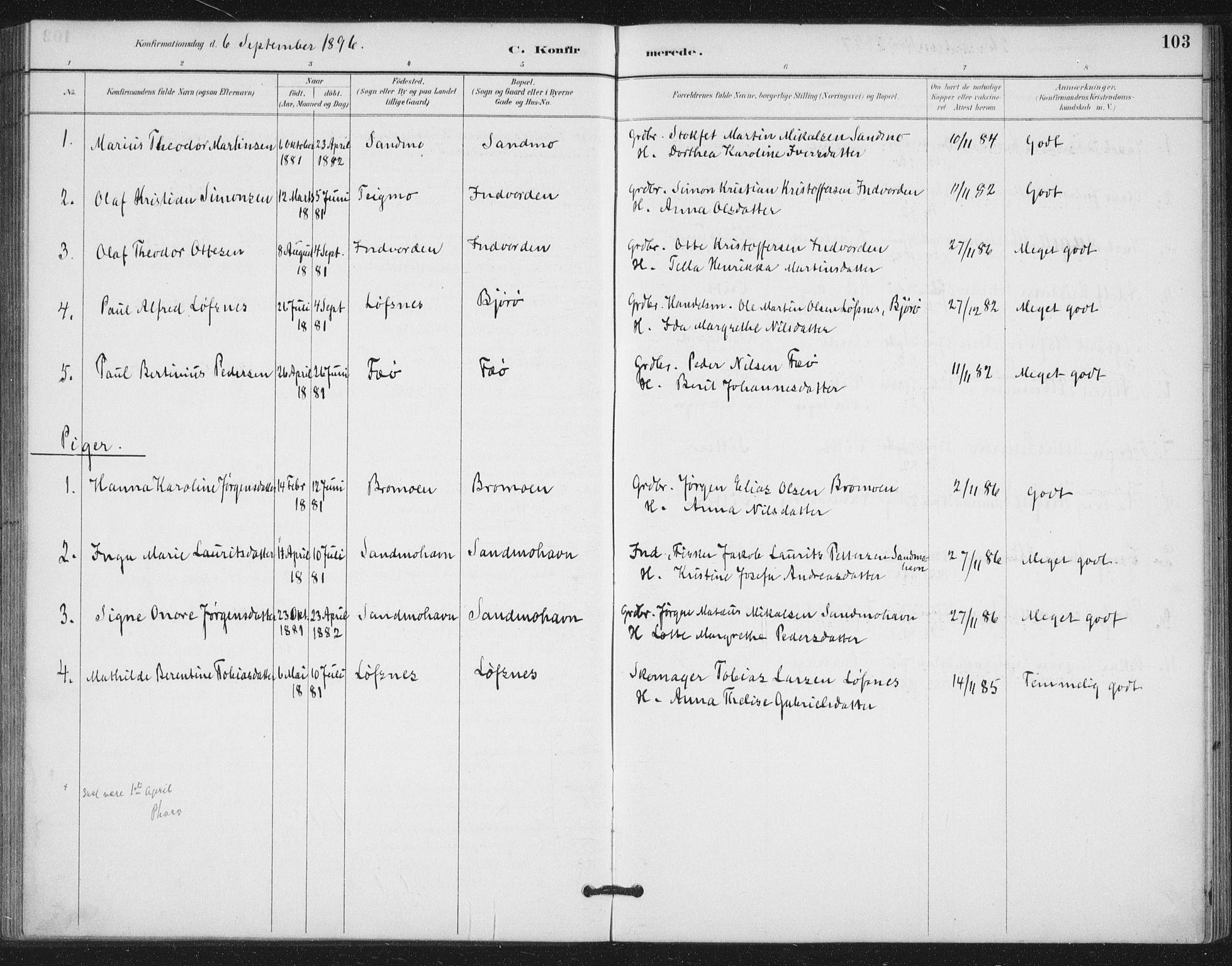 SAT, Ministerialprotokoller, klokkerbøker og fødselsregistre - Nord-Trøndelag, 772/L0603: Ministerialbok nr. 772A01, 1885-1912, s. 103