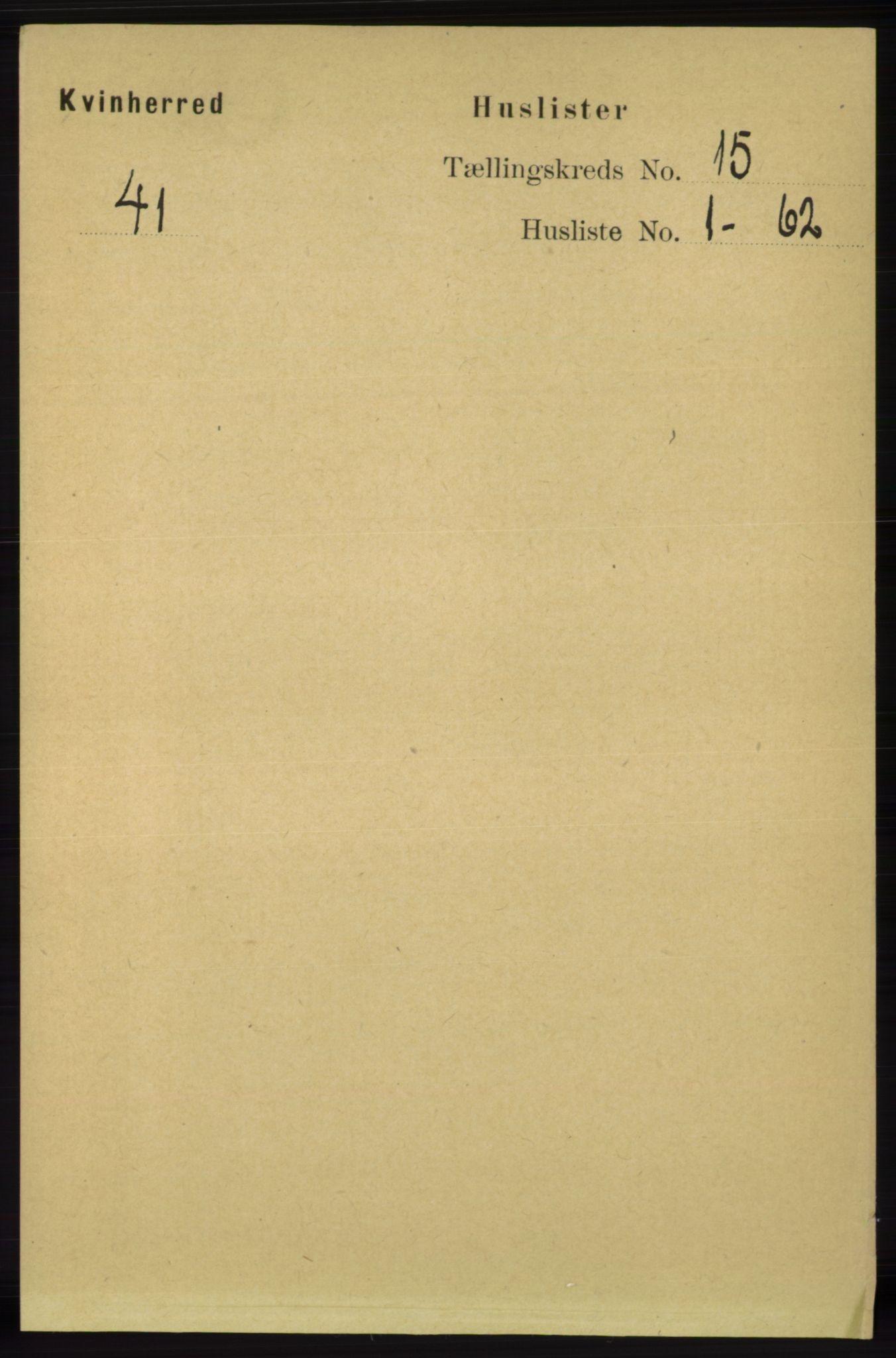 RA, Folketelling 1891 for 1224 Kvinnherad herred, 1891, s. 4953
