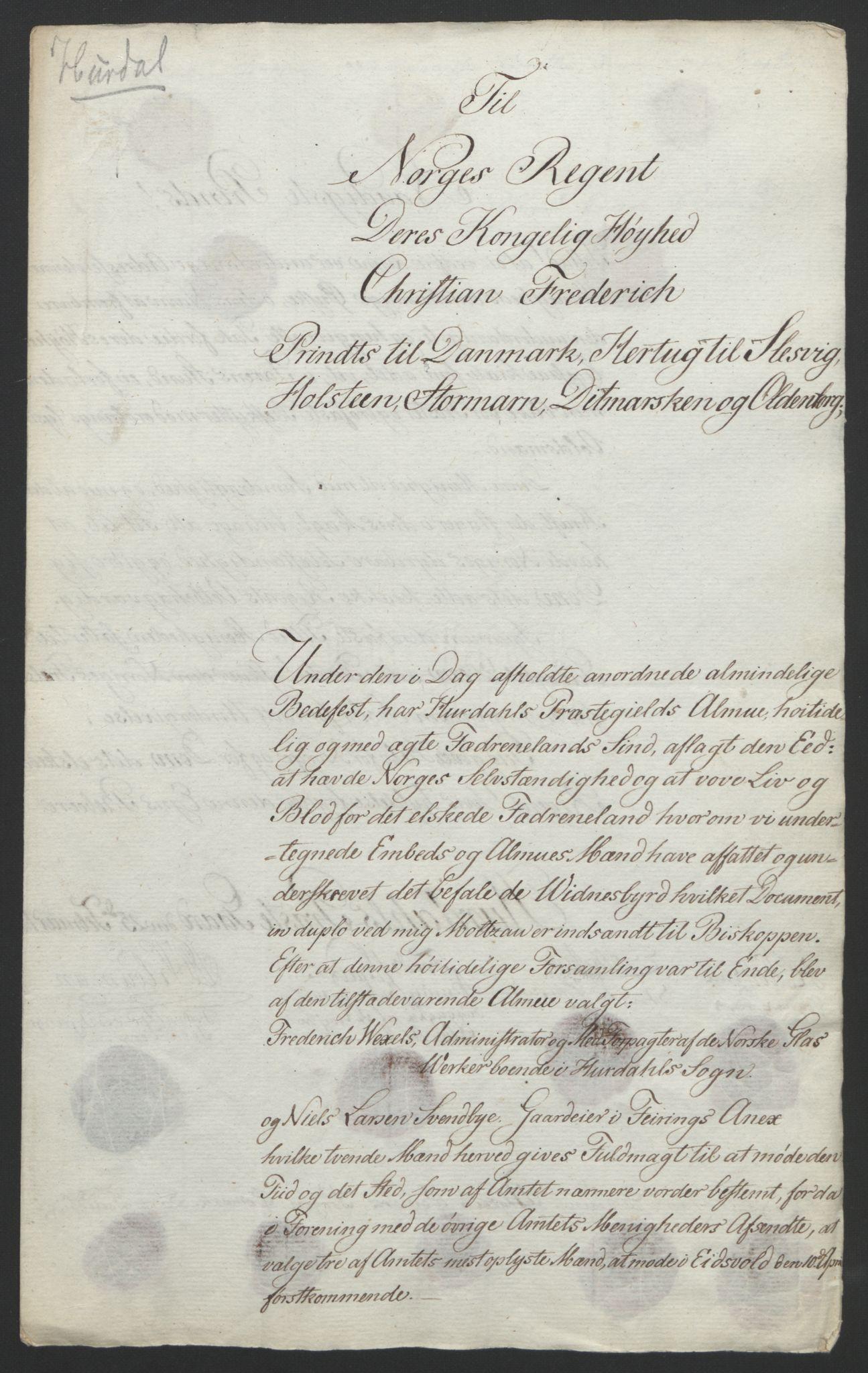 RA, Statsrådssekretariatet, D/Db/L0007: Fullmakter for Eidsvollsrepresentantene i 1814. , 1814, s. 186