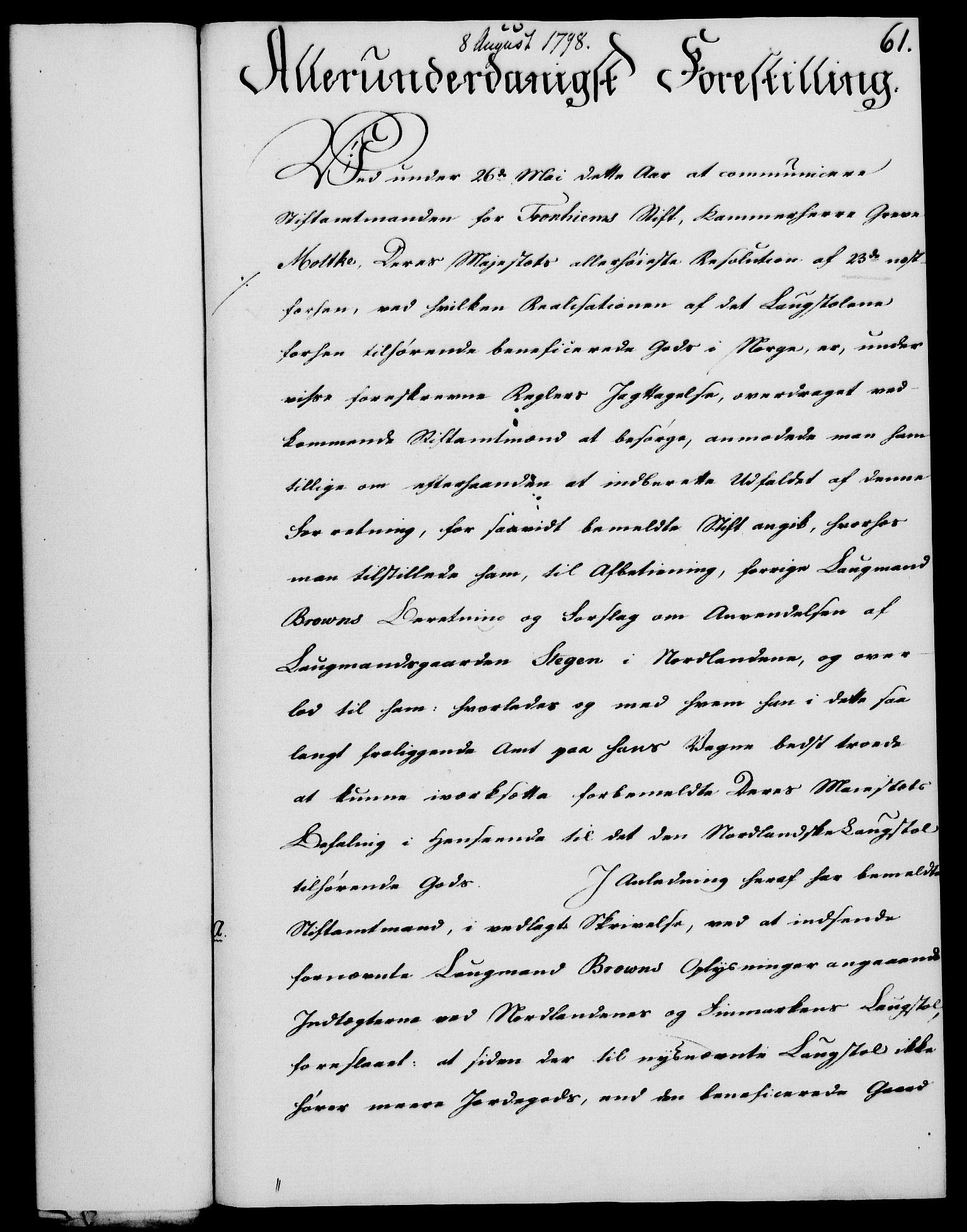 RA, Rentekammeret, Kammerkanselliet, G/Gf/Gfa/L0080: Norsk relasjons- og resolusjonsprotokoll (merket RK 52.80), 1798, s. 427