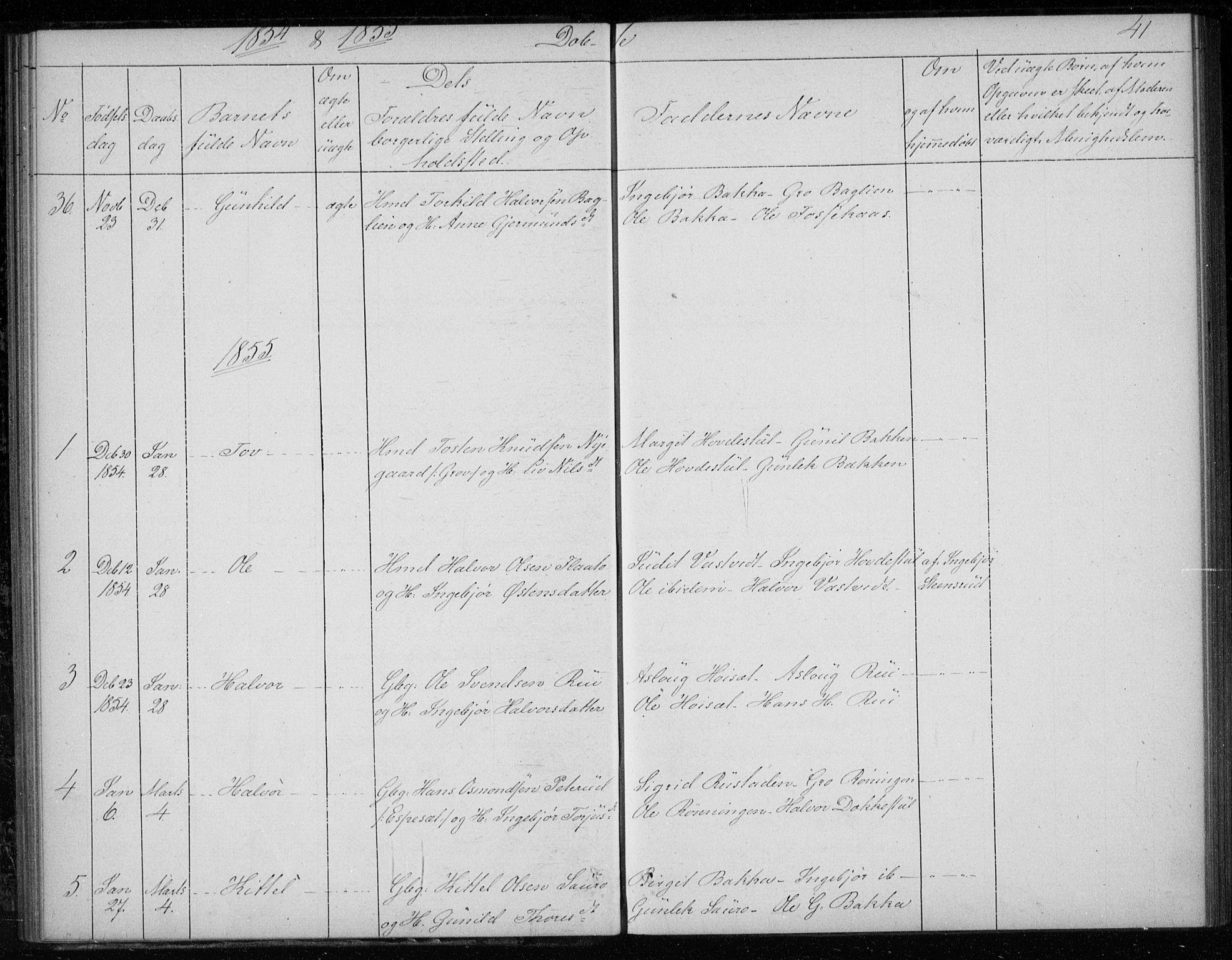 SAKO, Gransherad kirkebøker, F/Fb/L0003: Ministerialbok nr. II 3, 1844-1859, s. 41
