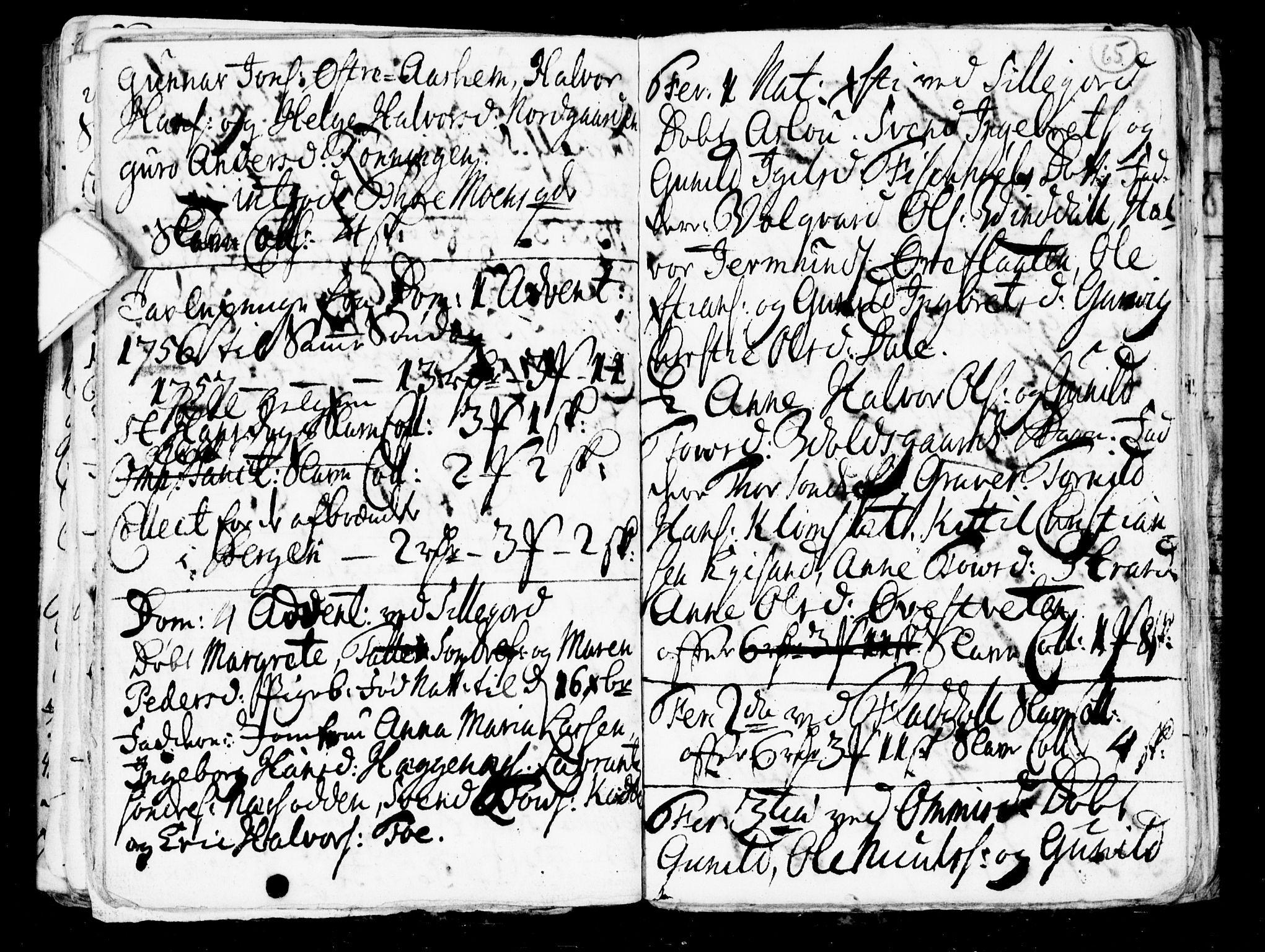 SAKO, Seljord kirkebøker, G/Gb/L0001: Klokkerbok nr. II 1, 1754-1790, s. 64-65