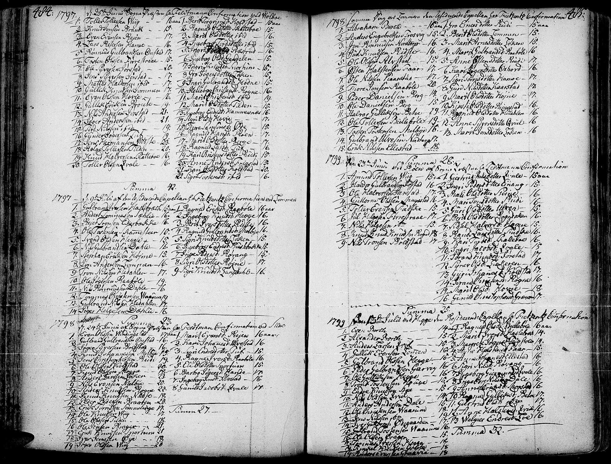SAH, Slidre prestekontor, Ministerialbok nr. 1, 1724-1814, s. 484-485