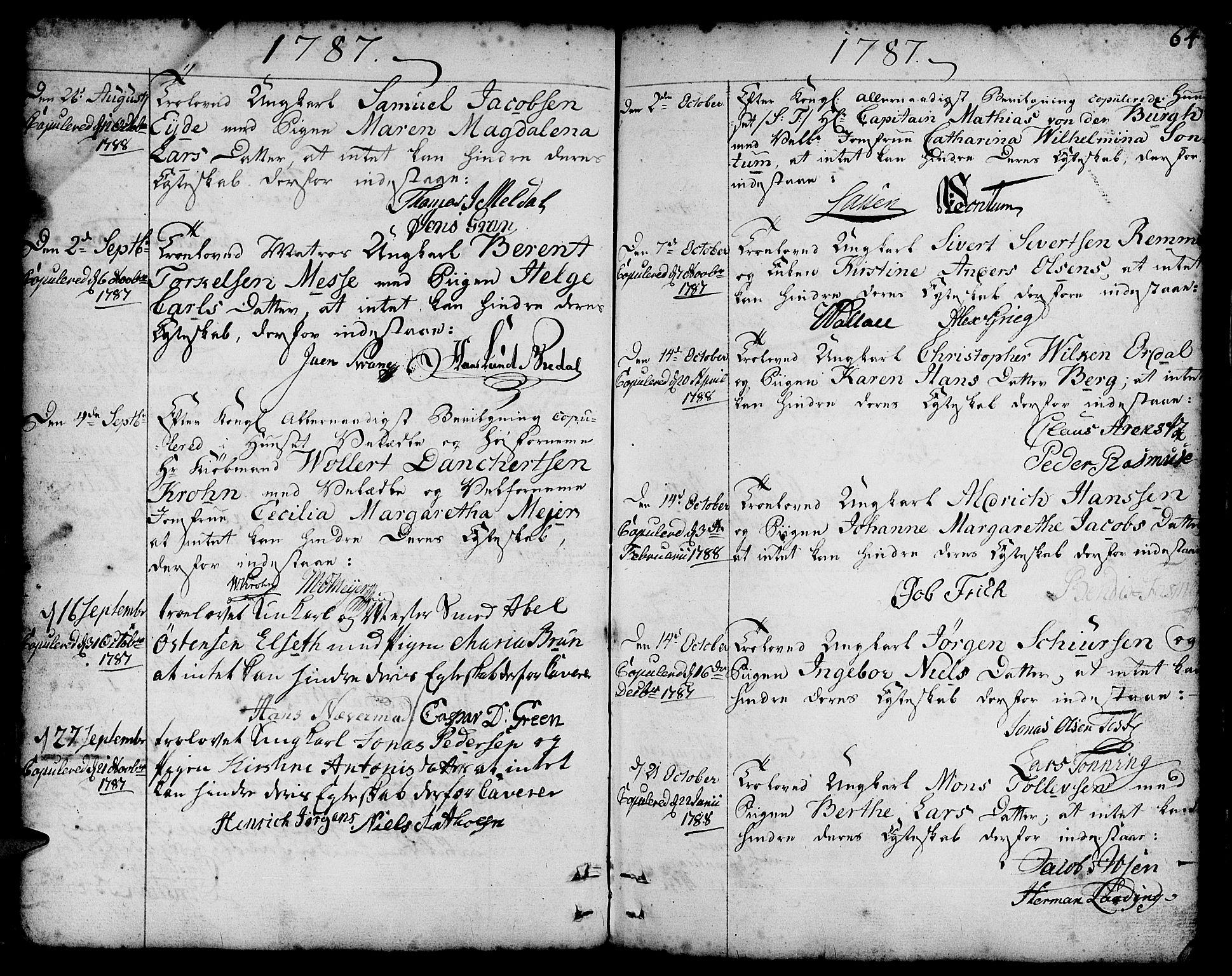 SAB, Nykirken Sokneprestembete, H/Haa: Ministerialbok nr. A 8, 1776-1814, s. 64