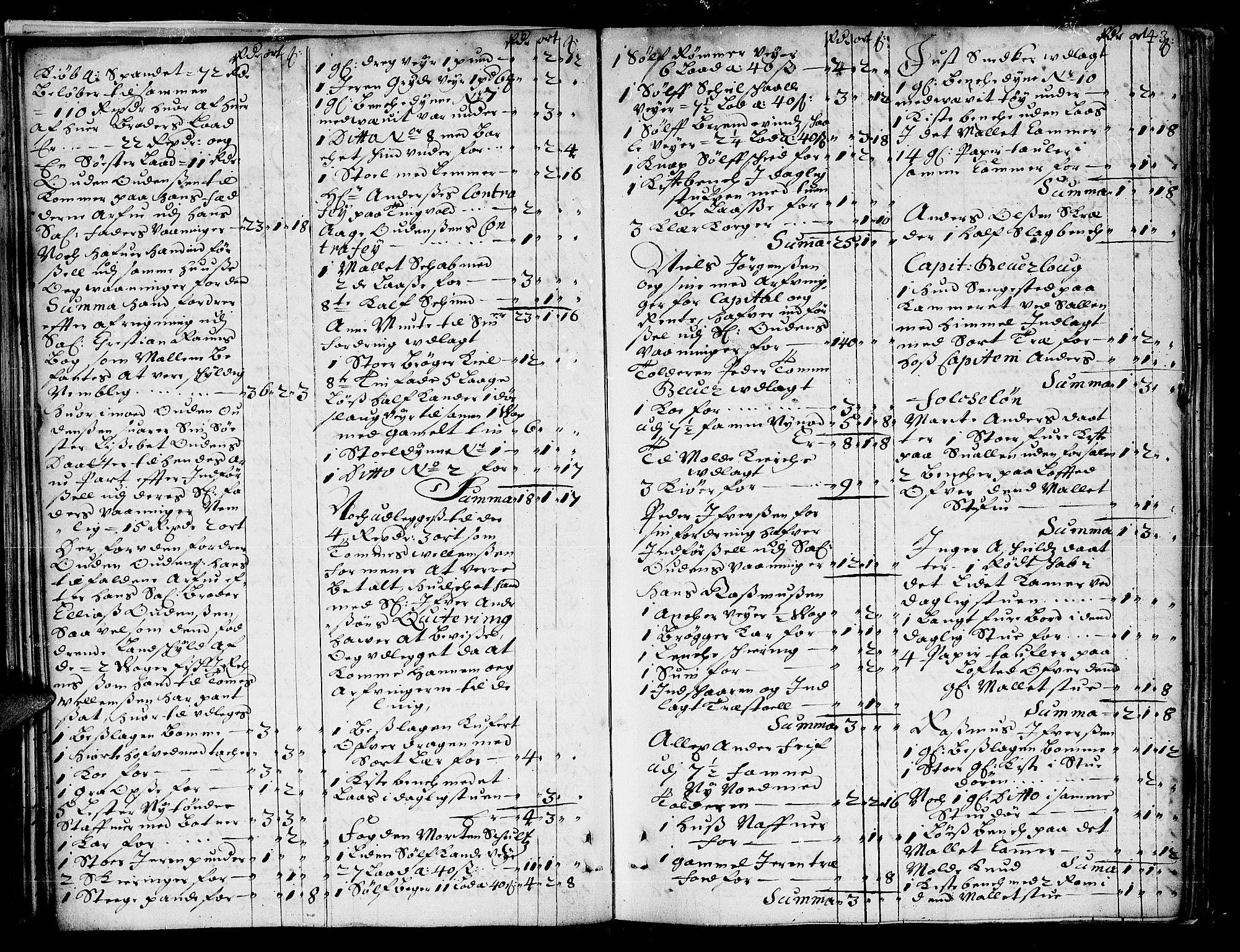 SAT, Romsdal sorenskriveri, 3/3A/L0002: Skifteprotokoll, 1683-1687, s. 42b-43a