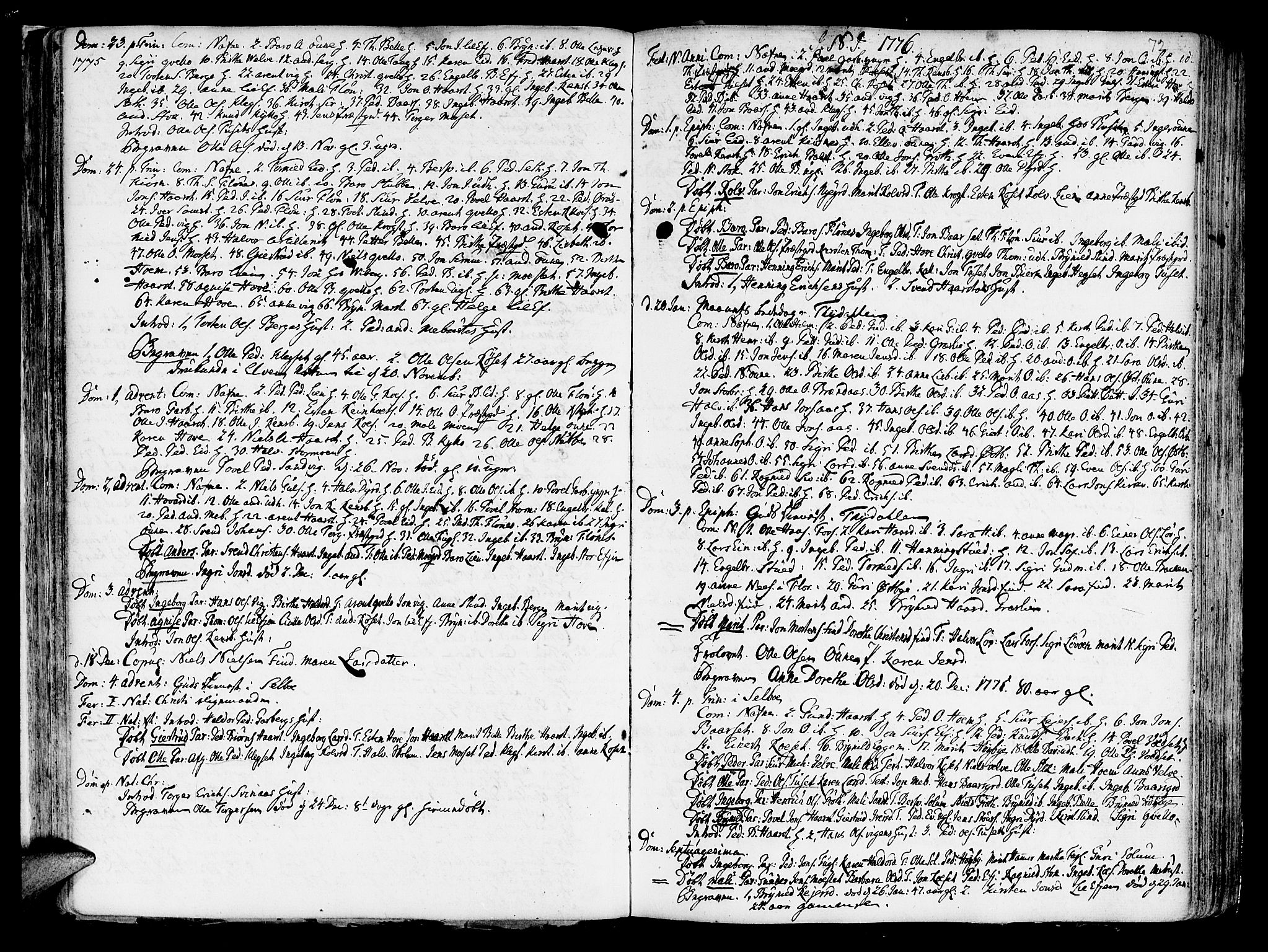SAT, Ministerialprotokoller, klokkerbøker og fødselsregistre - Sør-Trøndelag, 695/L1138: Ministerialbok nr. 695A02 /1, 1757-1801, s. 72