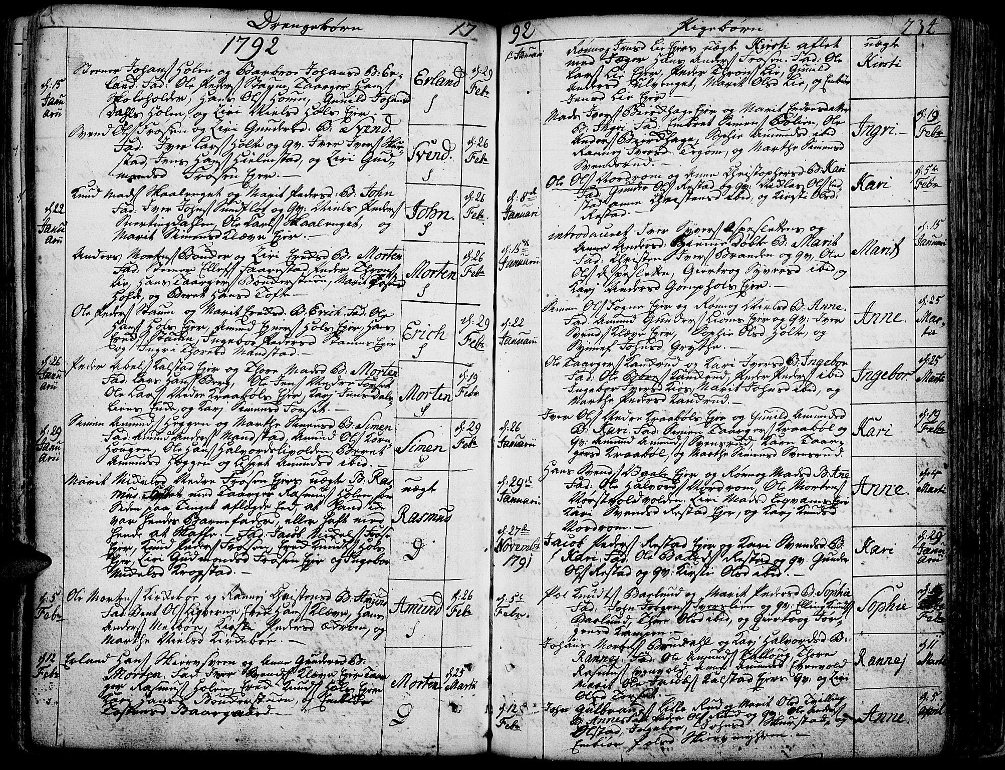 SAH, Gausdal prestekontor, Ministerialbok nr. 3, 1758-1809, s. 234
