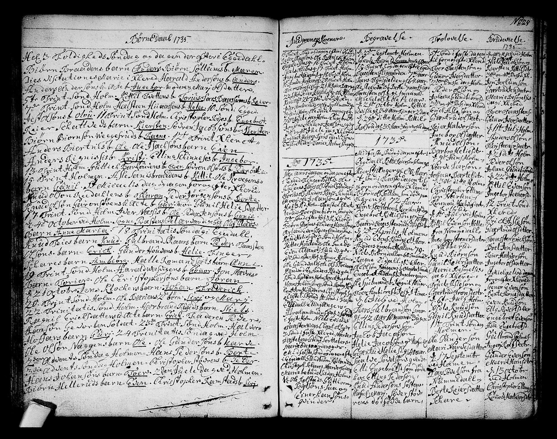 SAKO, Sigdal kirkebøker, F/Fa/L0001: Ministerialbok nr. I 1, 1722-1777, s. 28