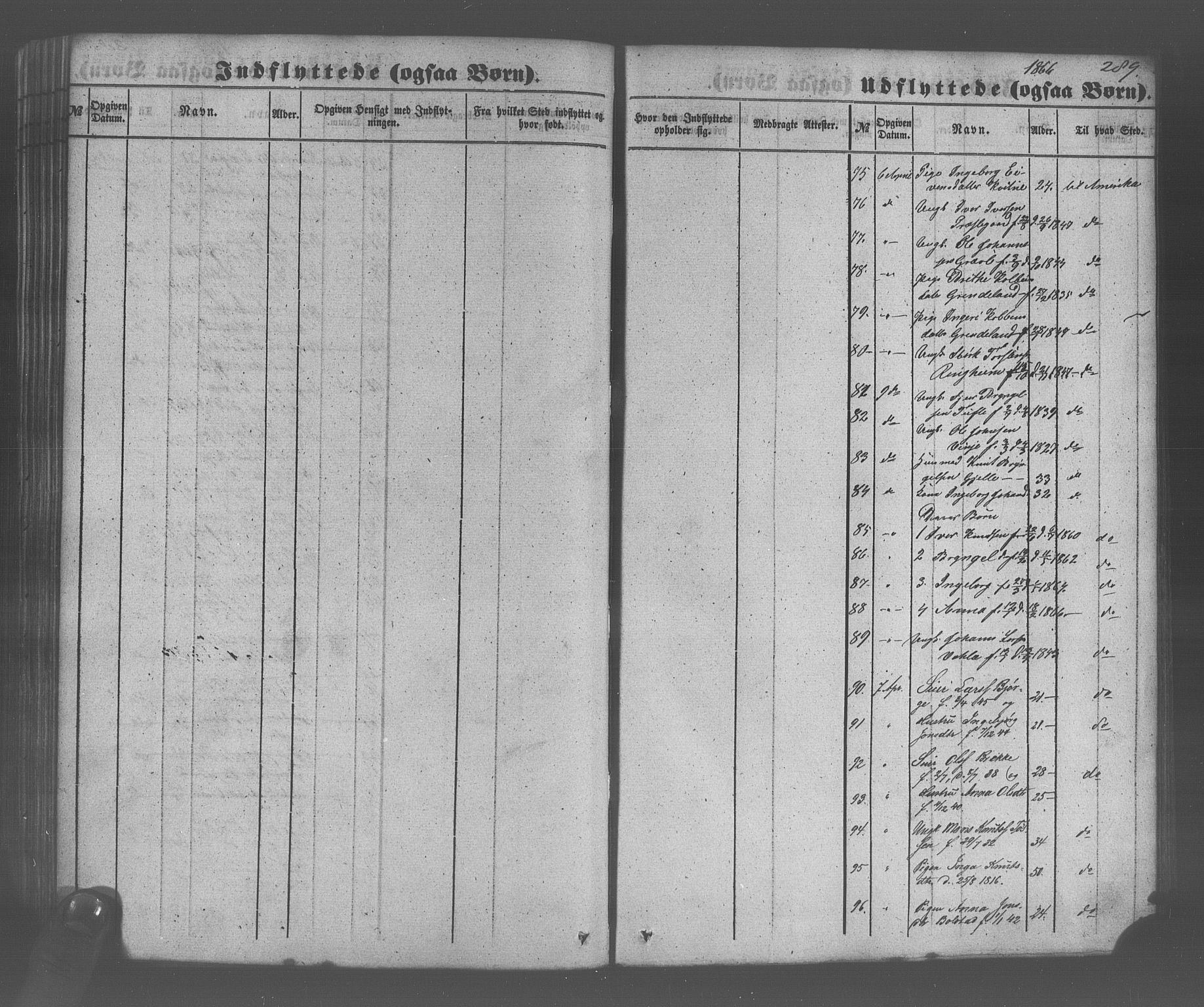 SAB, Voss Sokneprestembete, H/Haa: Ministerialbok nr. A 20, 1855-1886, s. 289