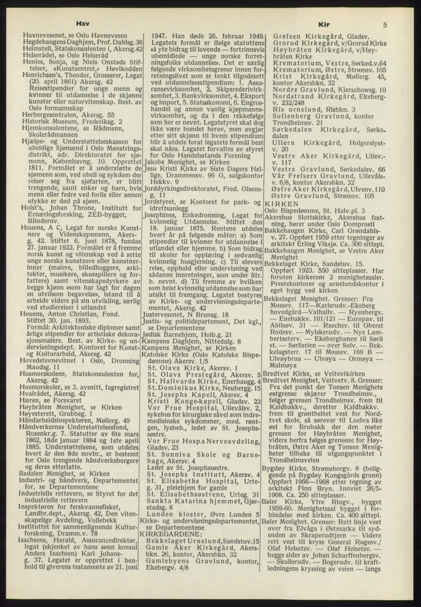 RA, Oslo adressebok (publikasjon)*, 1970-1971, s. 5