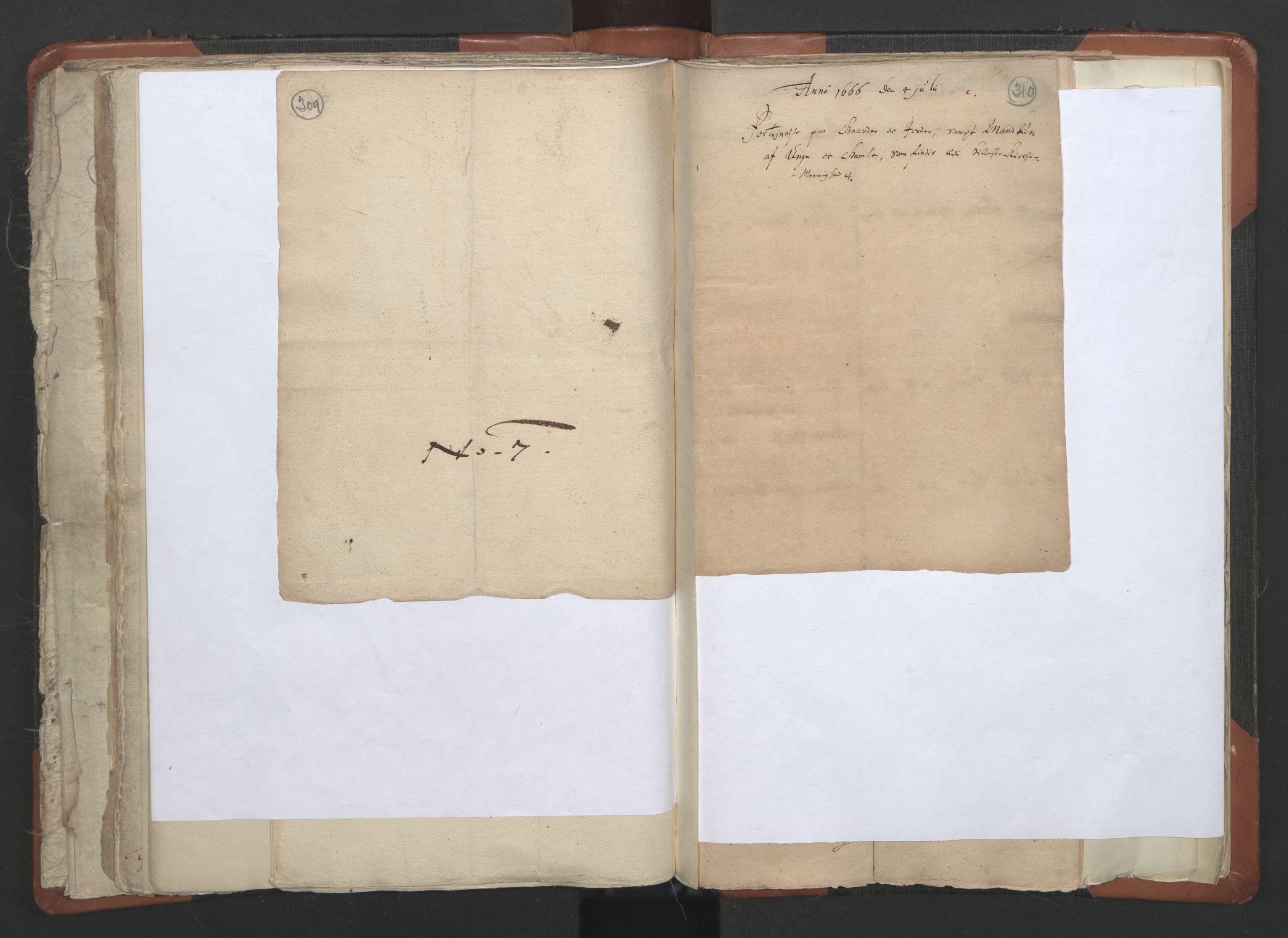 RA, Sogneprestenes manntall 1664-1666, nr. 36: Lofoten og Vesterålen prosti, Senja prosti og Troms prosti, 1664-1666, s. 309-310