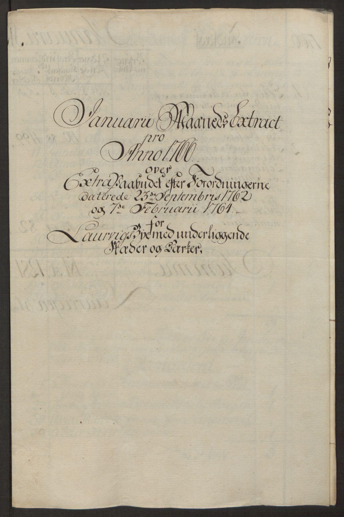 RA, Rentekammeret inntil 1814, Reviderte regnskaper, Byregnskaper, R/Ri/L0183: [I4] Kontribusjonsregnskap, 1762-1768, s. 327