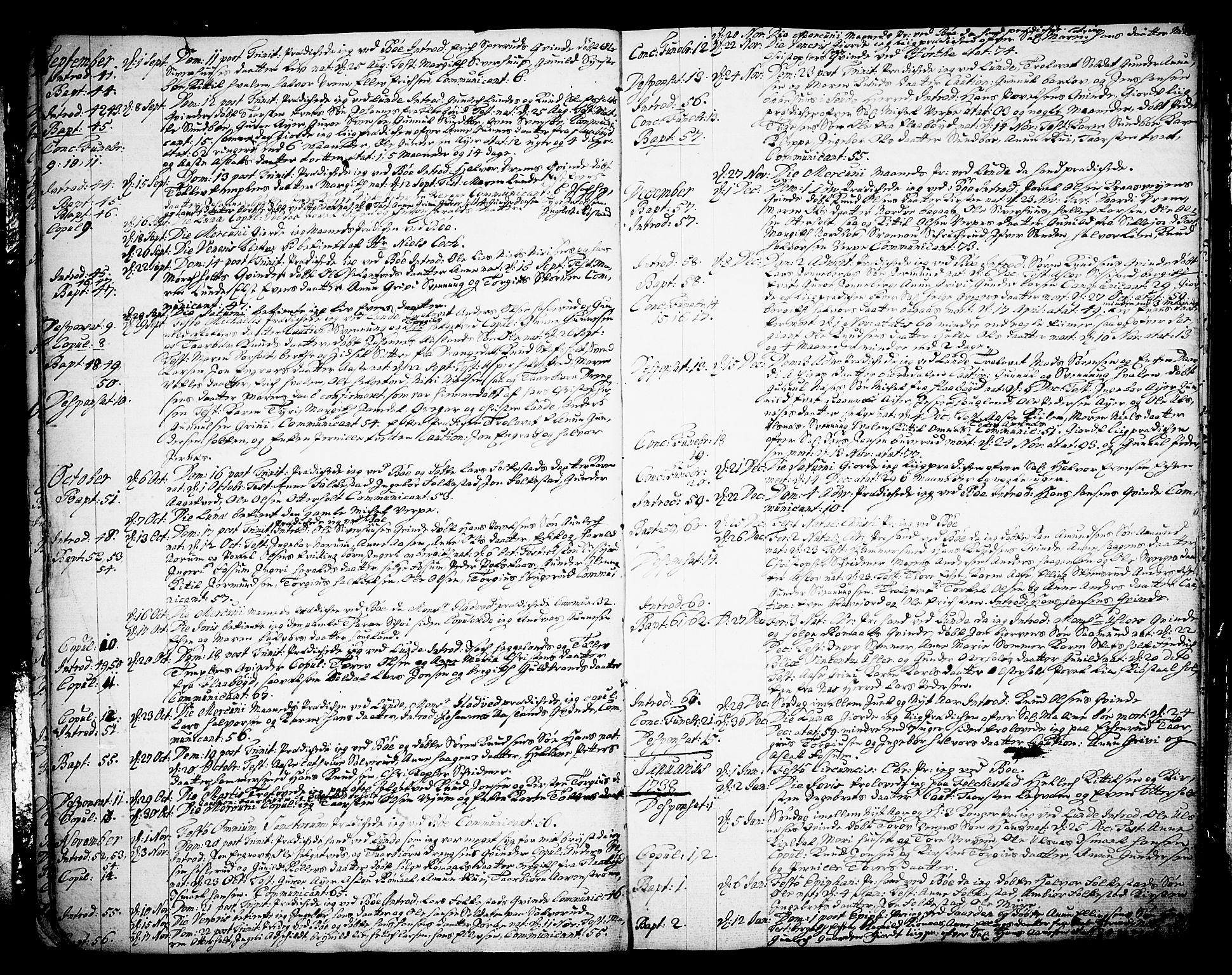 SAKO, Bø kirkebøker, F/Fa/L0003: Ministerialbok nr. 3, 1733-1748, s. 12