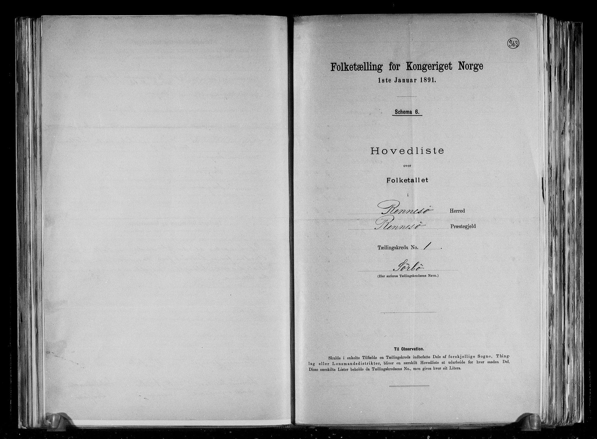 RA, Folketelling 1891 for 1142 Rennesøy herred, 1891, s. 4