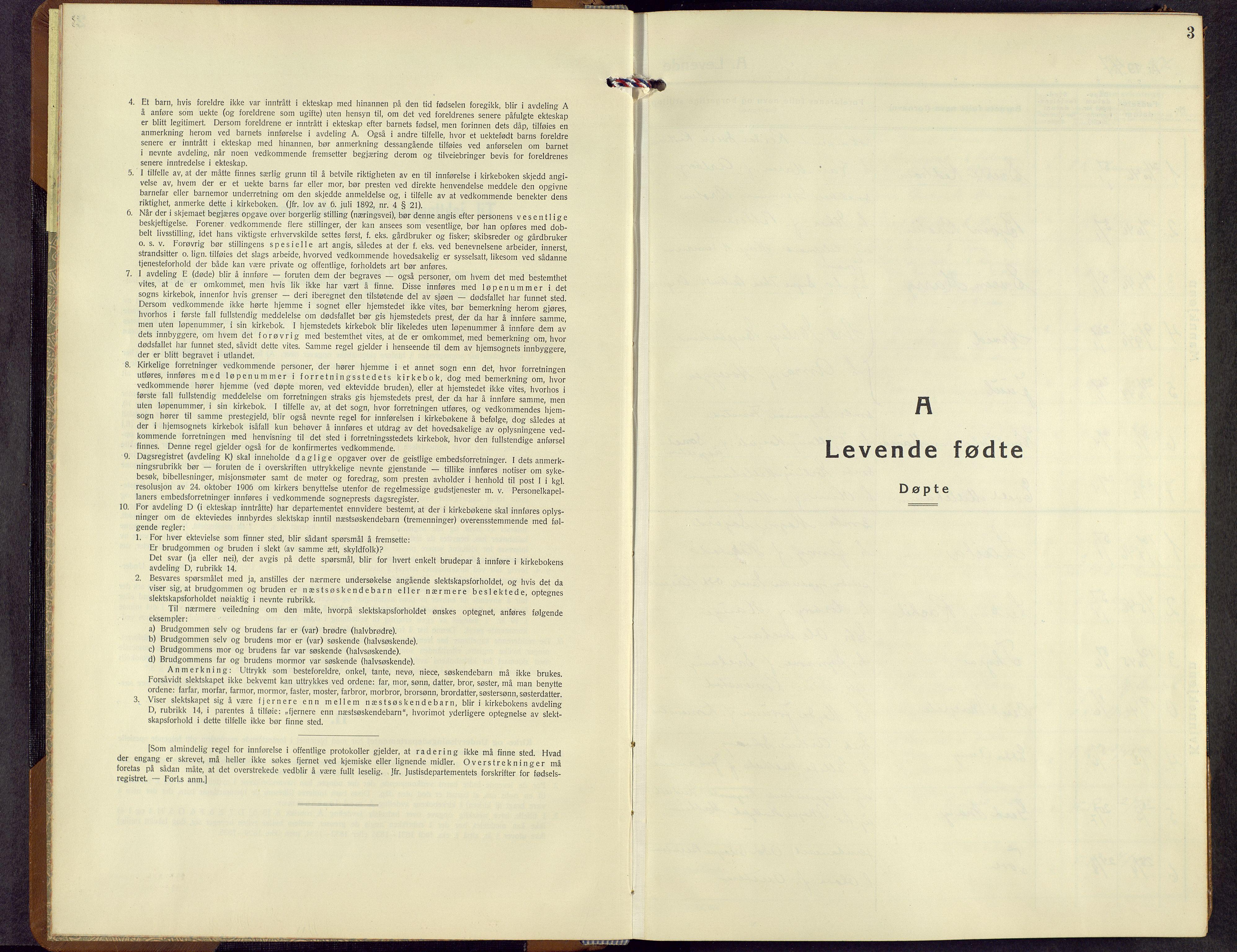 SAH, Rendalen prestekontor, H/Ha/Hab/L0005: Klokkerbok nr. 5, 1931-1959, s. 3