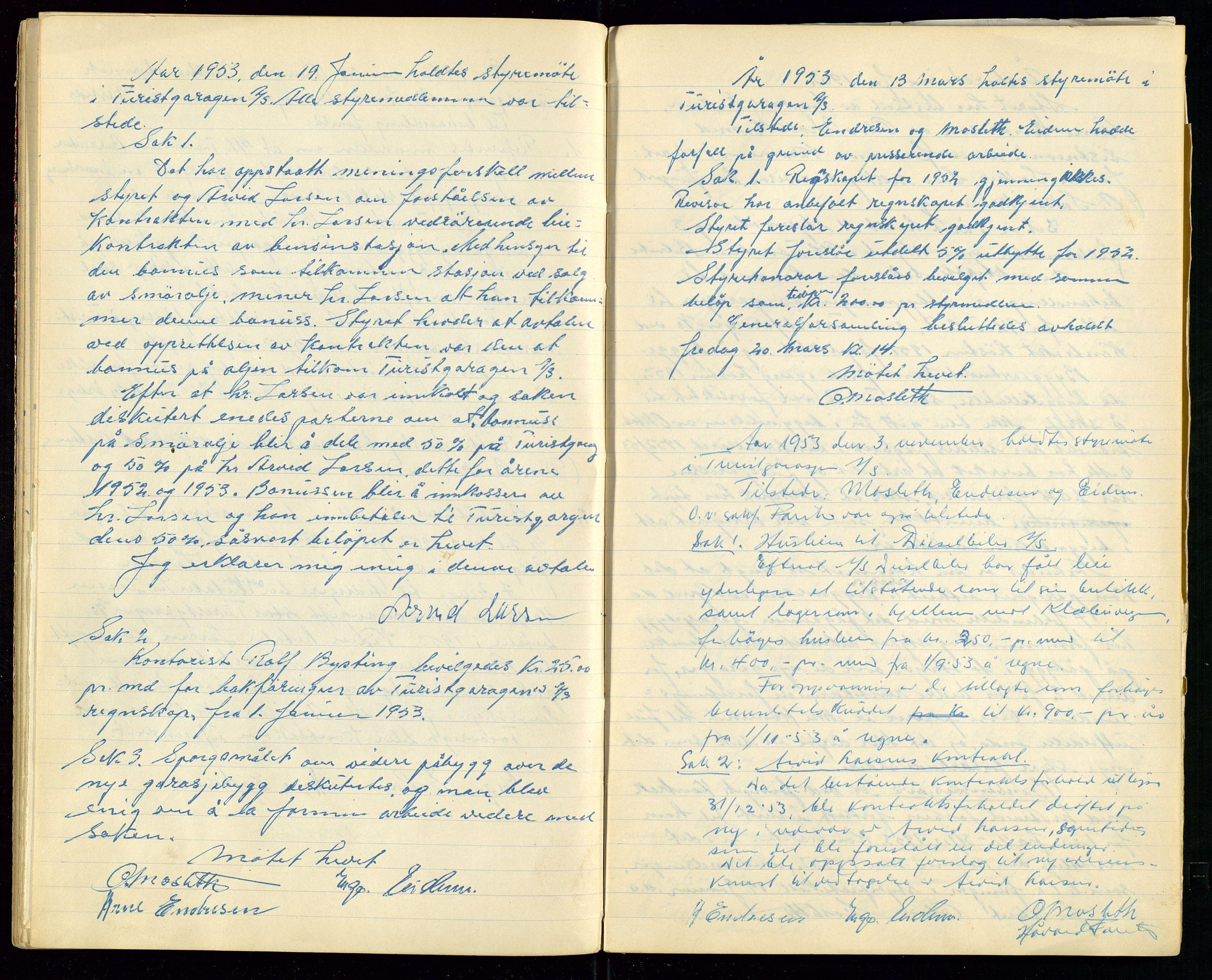 SAST, PA 1515 - Turistgarasjen A/S, A/L0001: Forhandlingsprotokoll, 1937-1958, s. 30