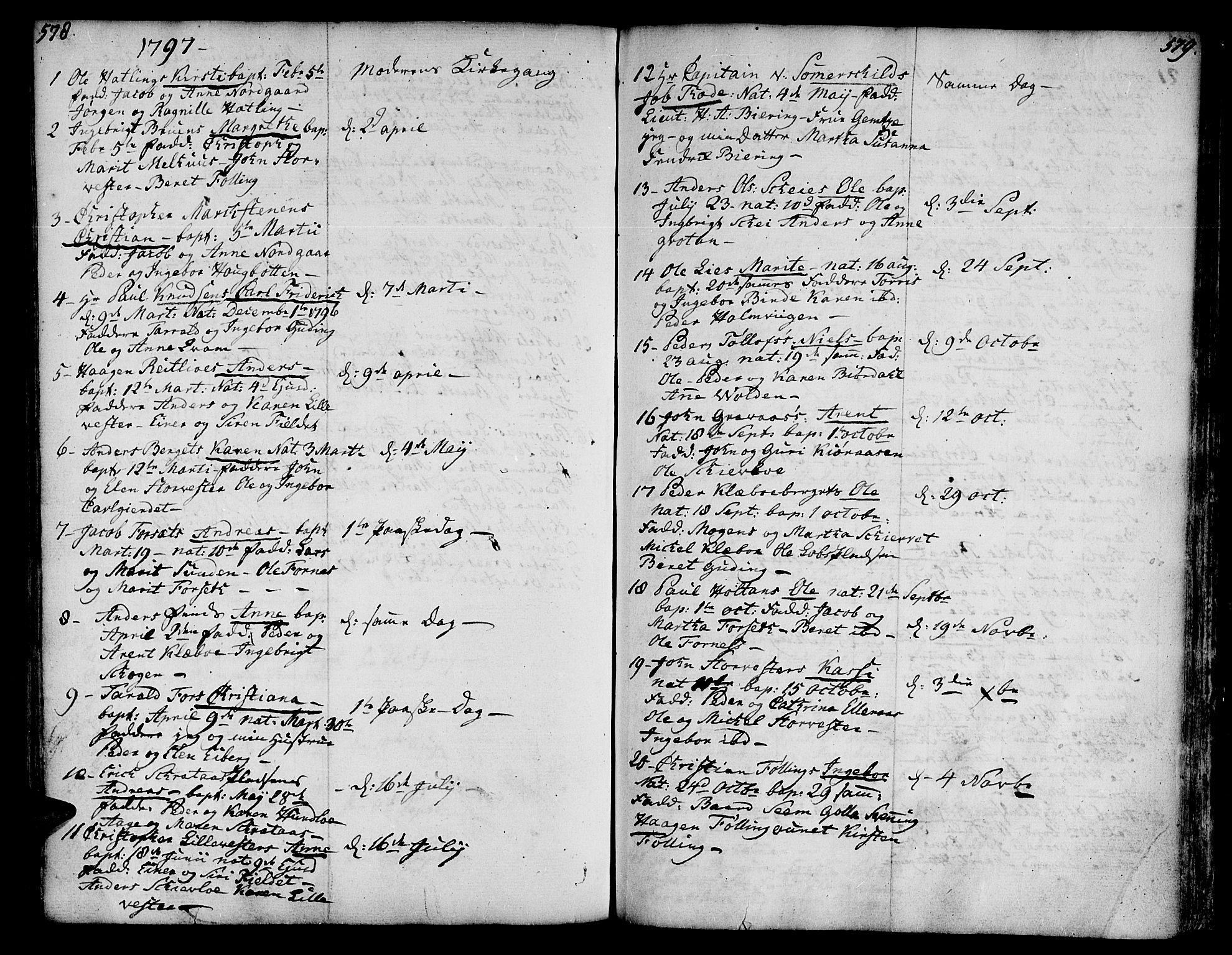 SAT, Ministerialprotokoller, klokkerbøker og fødselsregistre - Nord-Trøndelag, 746/L0440: Ministerialbok nr. 746A02, 1760-1815, s. 578-579