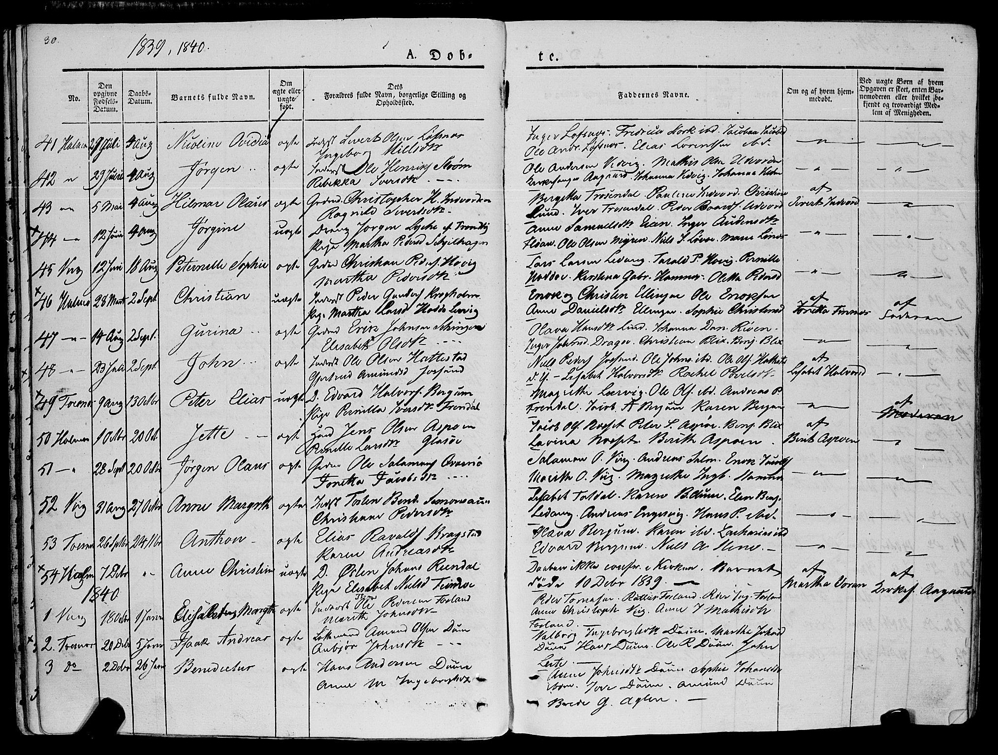 SAT, Ministerialprotokoller, klokkerbøker og fødselsregistre - Nord-Trøndelag, 773/L0614: Ministerialbok nr. 773A05, 1831-1856, s. 30
