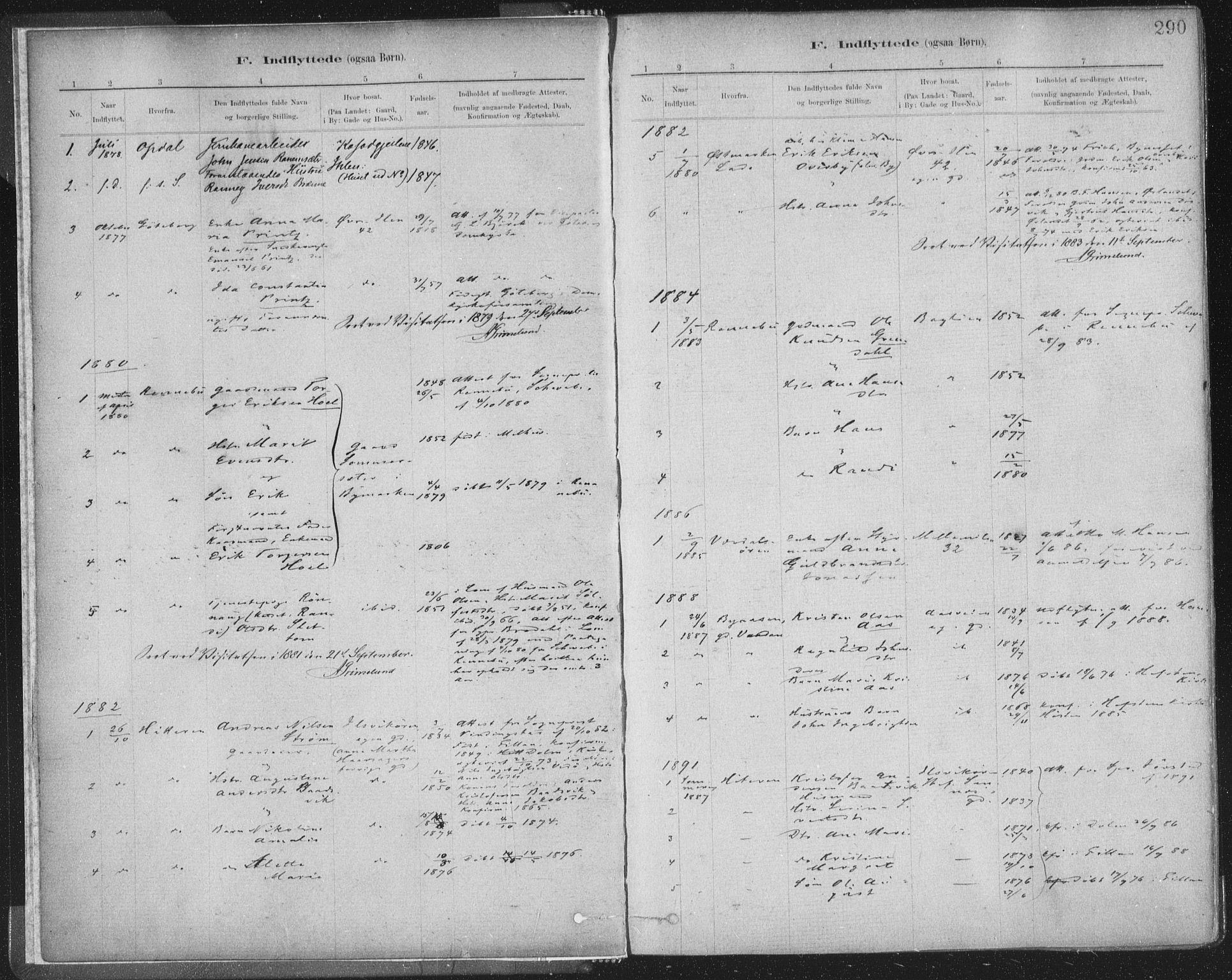 SAT, Ministerialprotokoller, klokkerbøker og fødselsregistre - Sør-Trøndelag, 603/L0163: Ministerialbok nr. 603A02, 1879-1895, s. 290