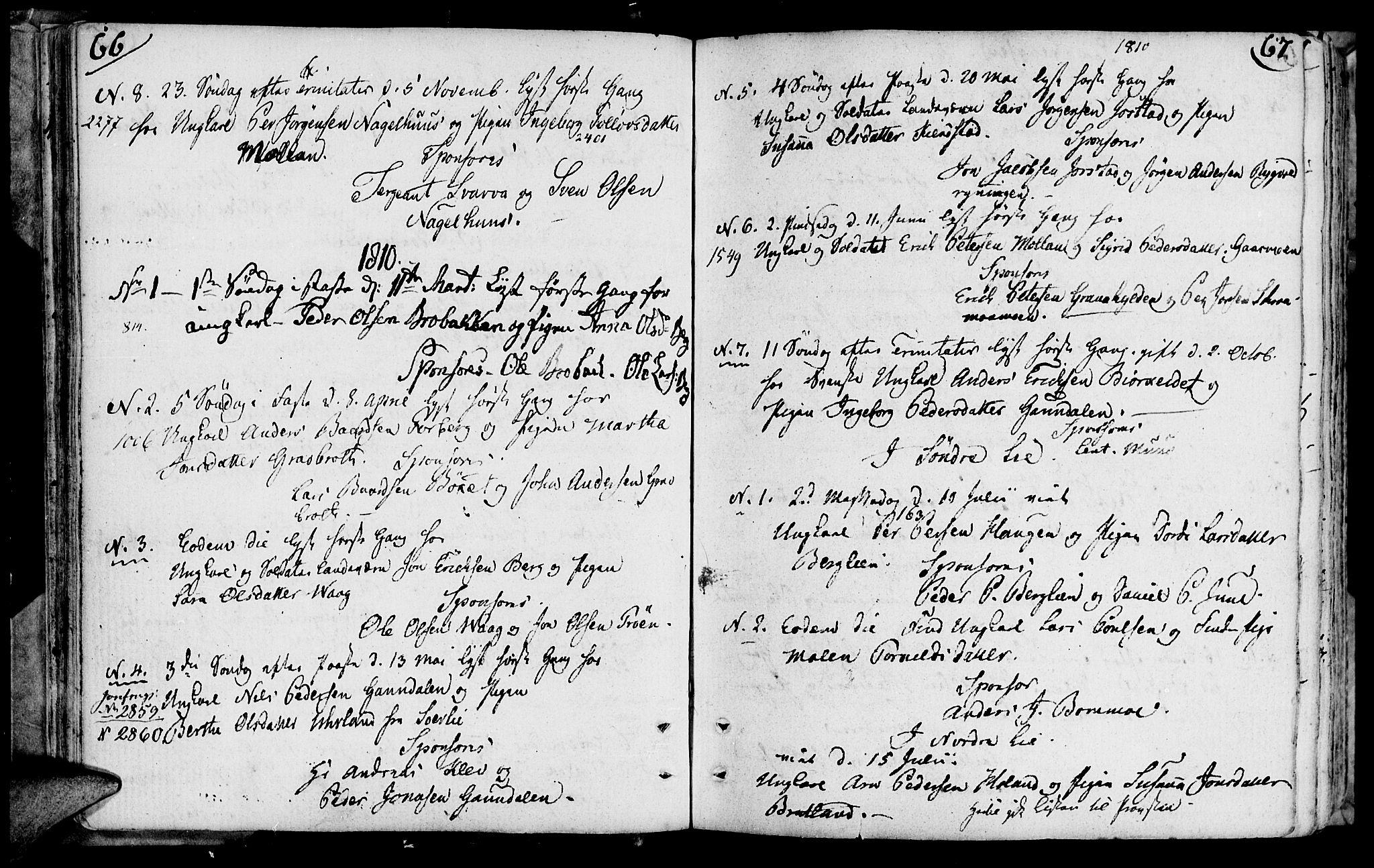 SAT, Ministerialprotokoller, klokkerbøker og fødselsregistre - Nord-Trøndelag, 749/L0468: Ministerialbok nr. 749A02, 1787-1817, s. 66-67