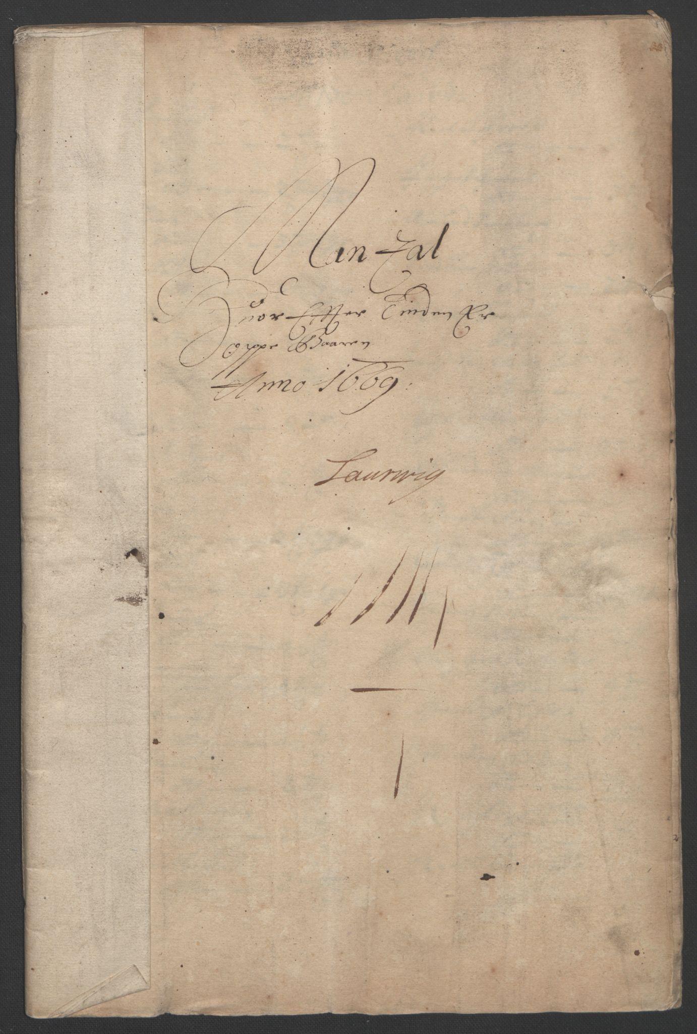 RA, Rentekammeret inntil 1814, Reviderte regnskaper, Fogderegnskap, R33/L1965: Fogderegnskap Larvik grevskap, 1669-1670, s. 104