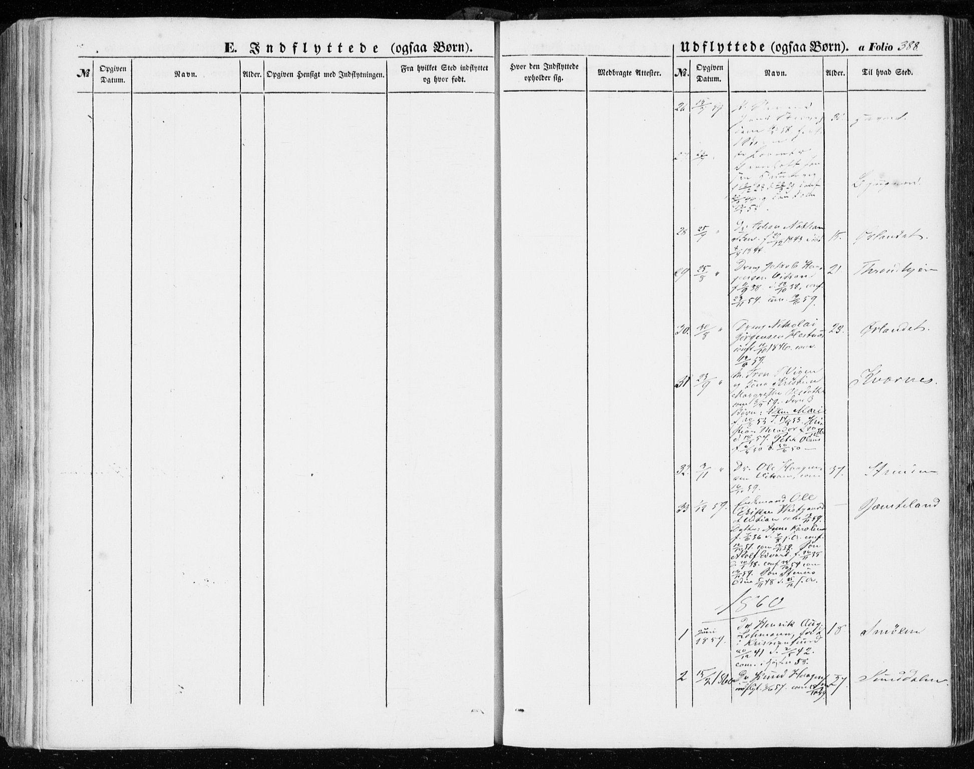 SAT, Ministerialprotokoller, klokkerbøker og fødselsregistre - Sør-Trøndelag, 634/L0530: Ministerialbok nr. 634A06, 1852-1860, s. 388